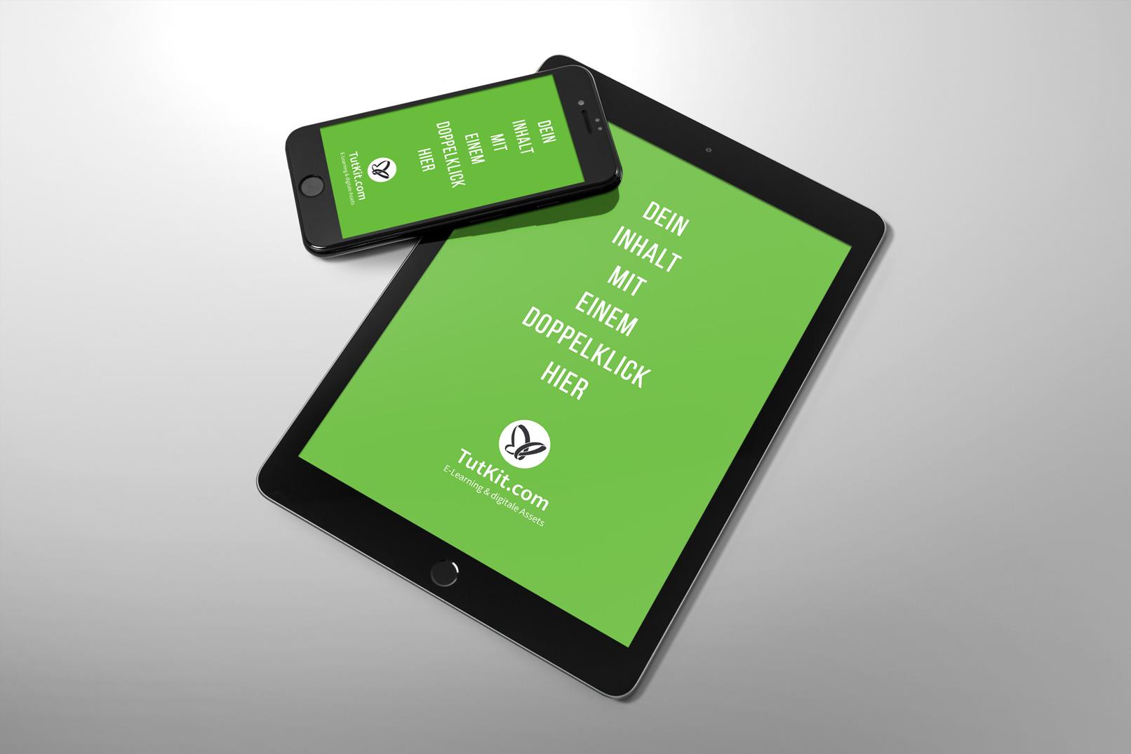 Mockup für Smartphone, Handy und Tablet, iPhone 7, iPad