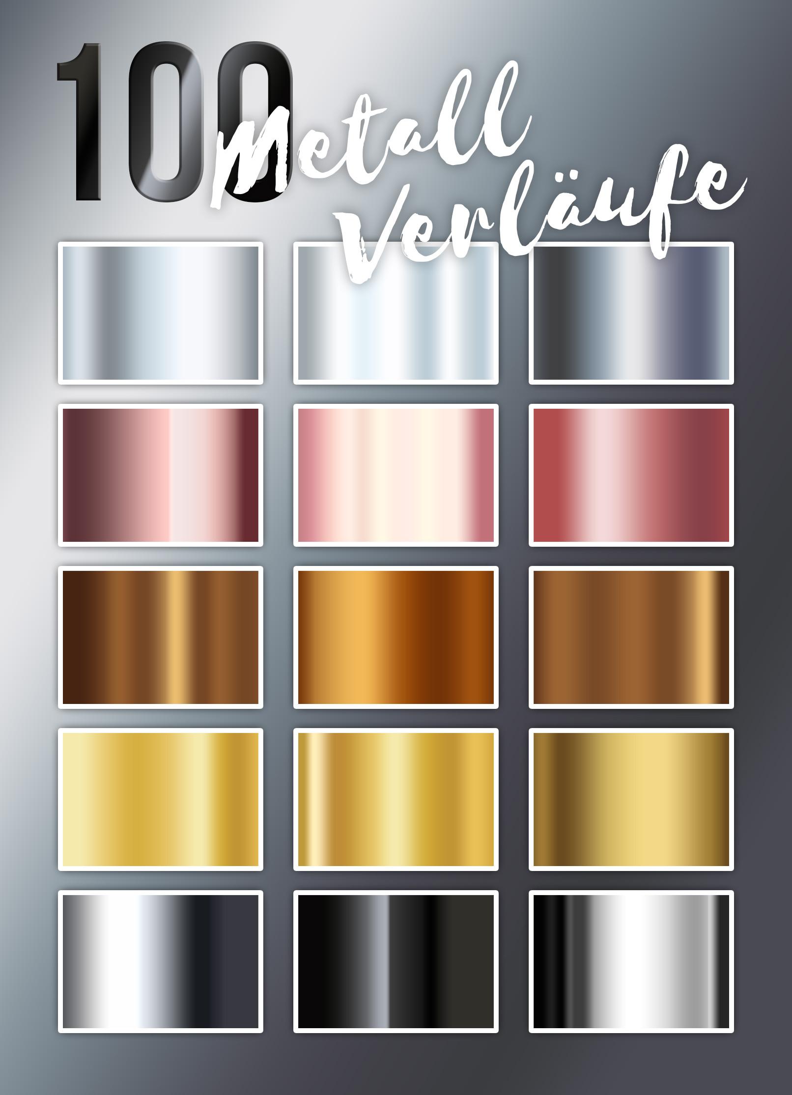 Farbverlauf in Photoshop: Beispiele der 100 enthaltenen Gradients