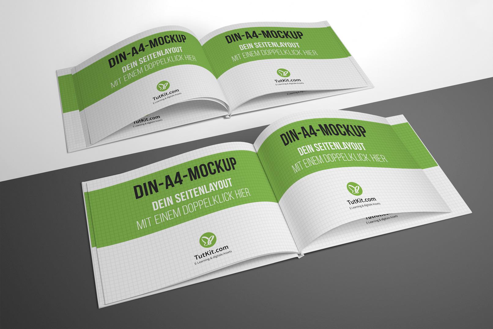 Mockup für Hardcover-Buch