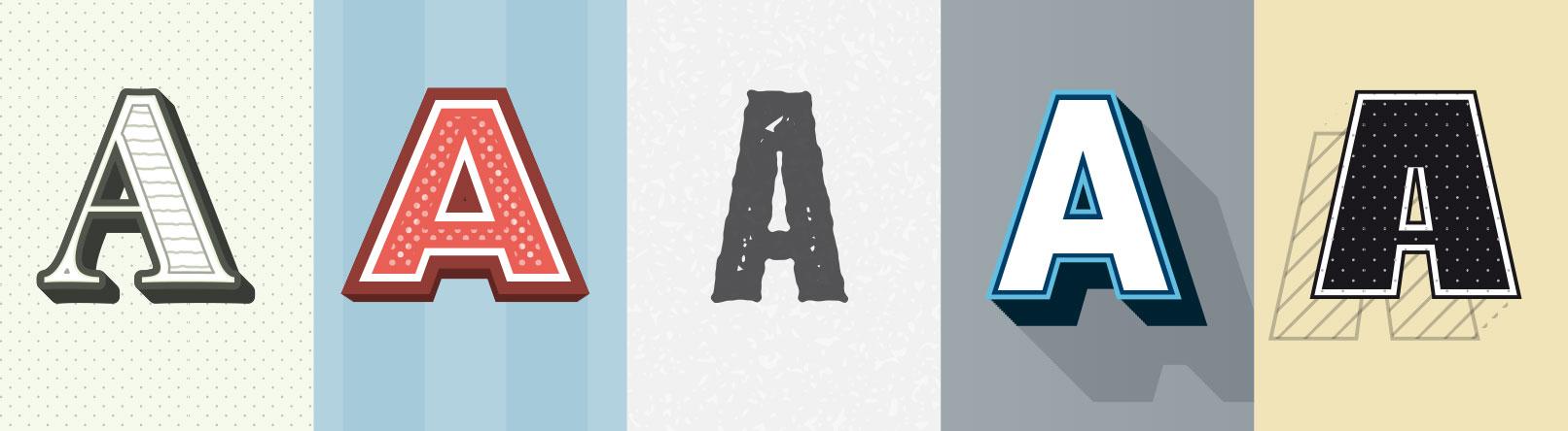 Beispiele für die 5 Grafikstile für Illustrator zum Download