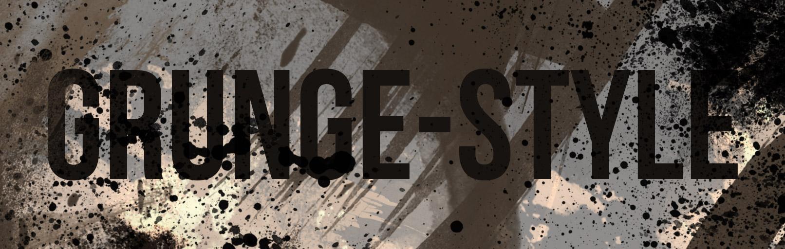 Schriftzug im Grunge-Style