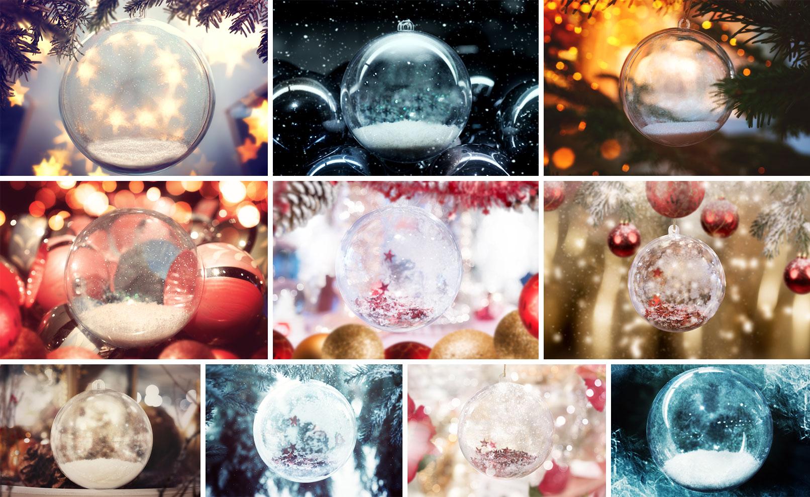 Fotos von Weihnachtskugeln
