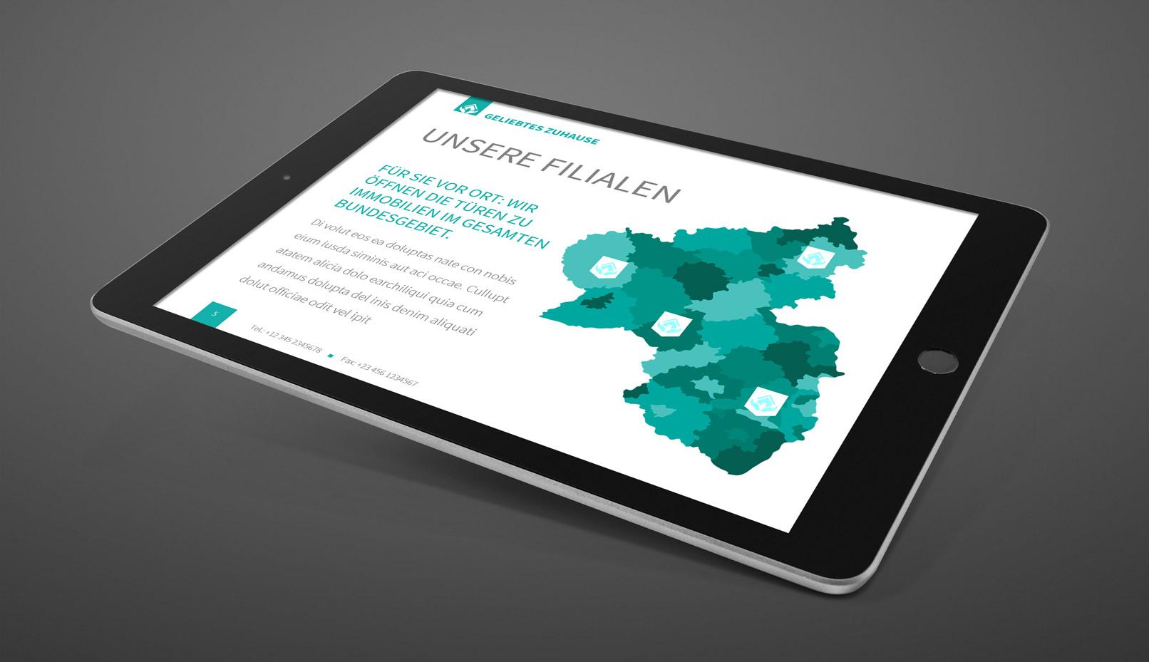 Infografik mit der Landkarte von Rheinland-Pfalz