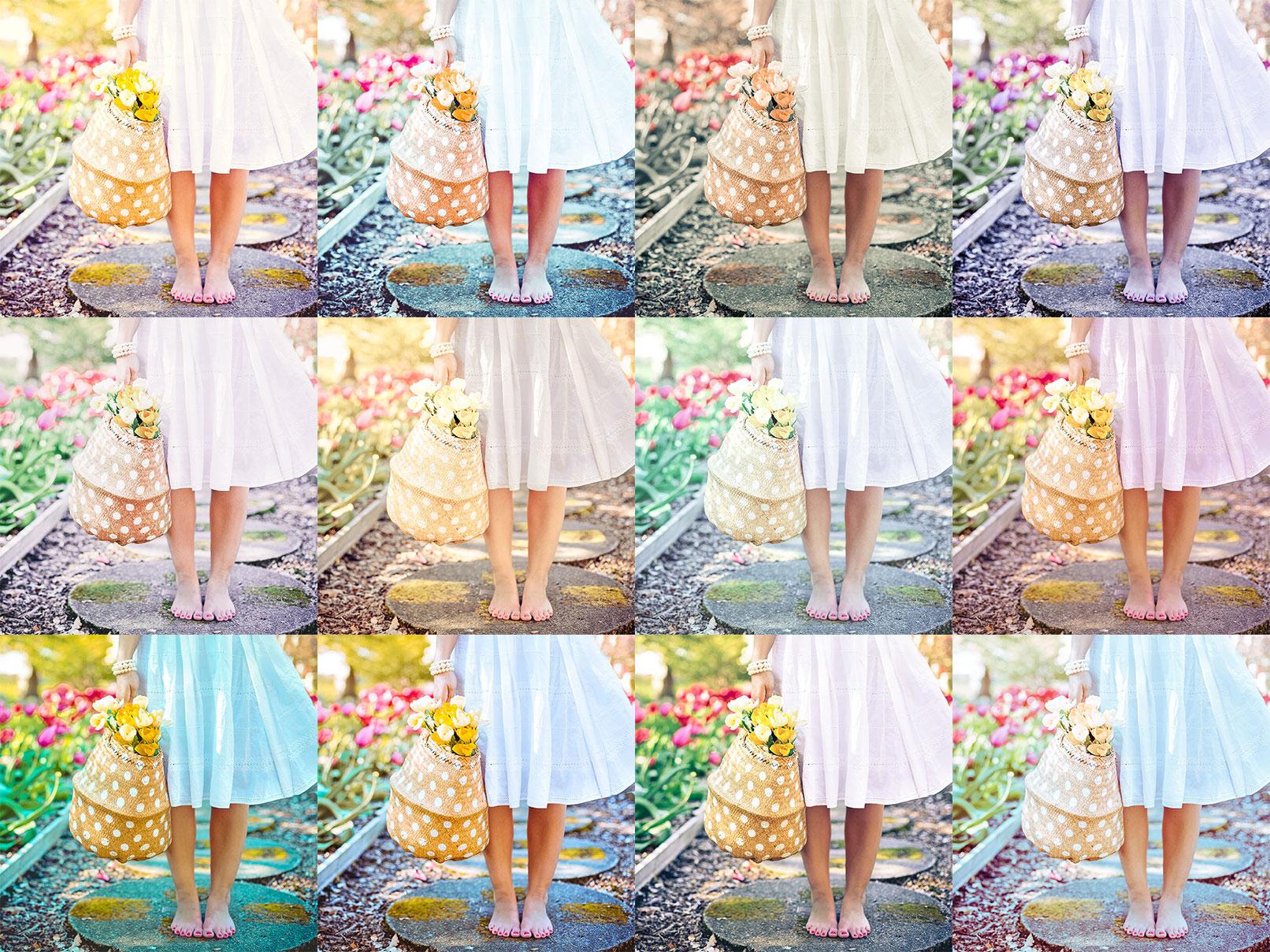 Beispielfotos, in denen Lightroom- und Camera Raw-Presets für Frühling eingesetzt wurden.