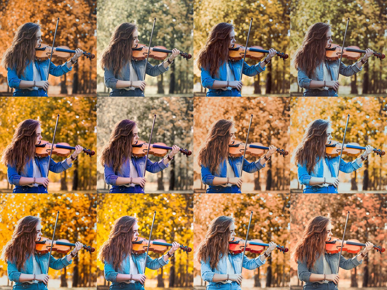 Beispielfotos, in denen Lightroom- und Camera Raw-Presets für Herbst eingesetzt wurden.