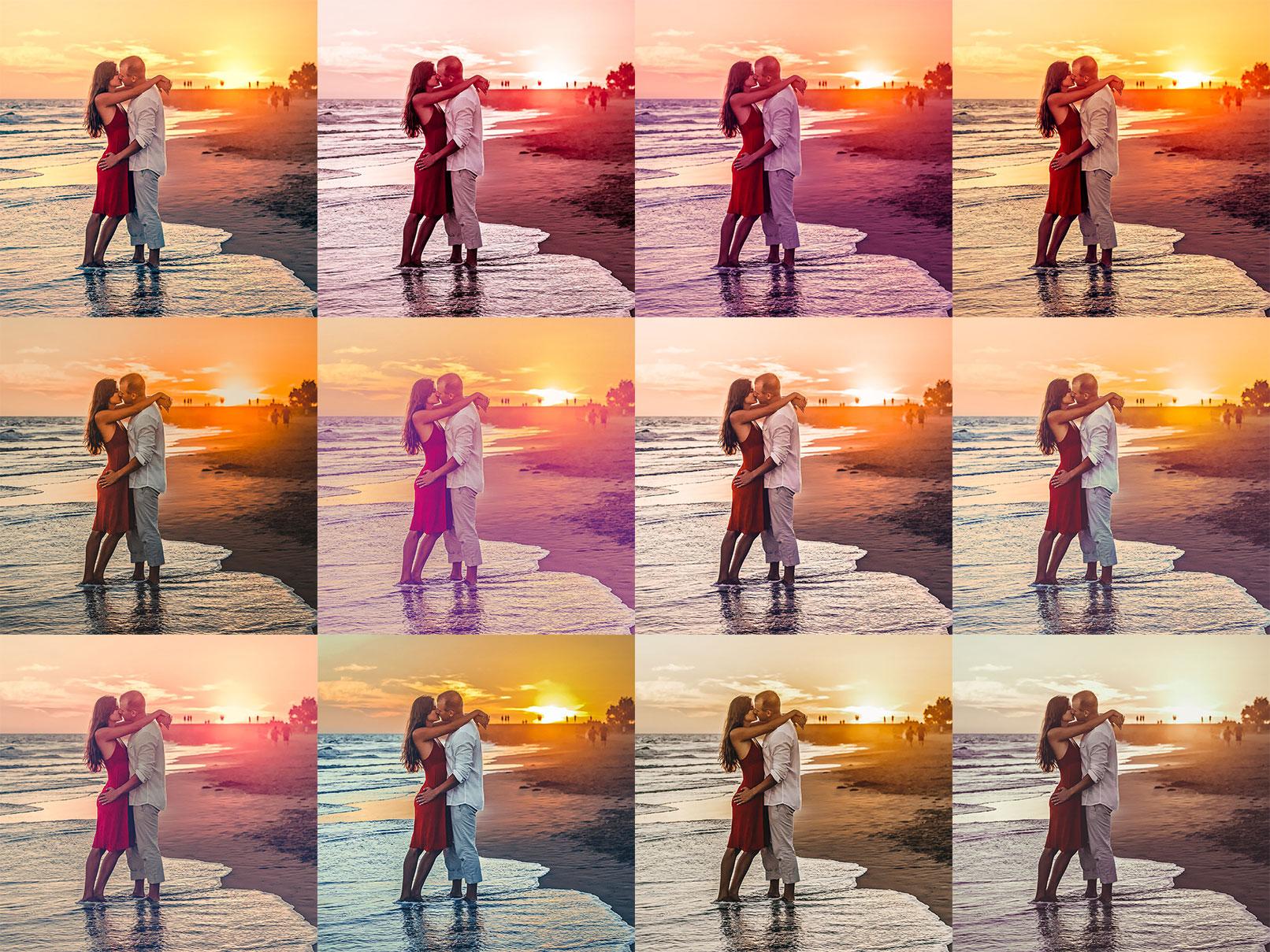Beispielfotos, in denen Lightroom- und Camera Raw-Presets für Sommer eingesetzt wurden.