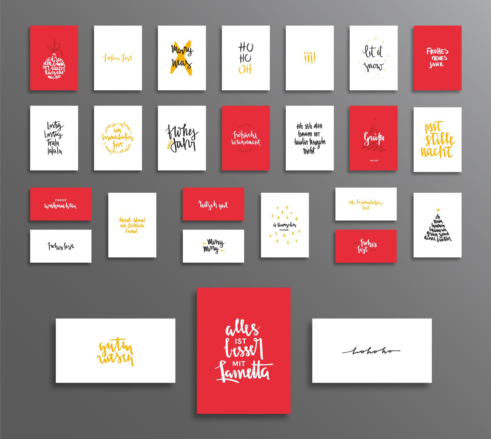 26 Handlettering-Vorlagen für frohe Weihnachten