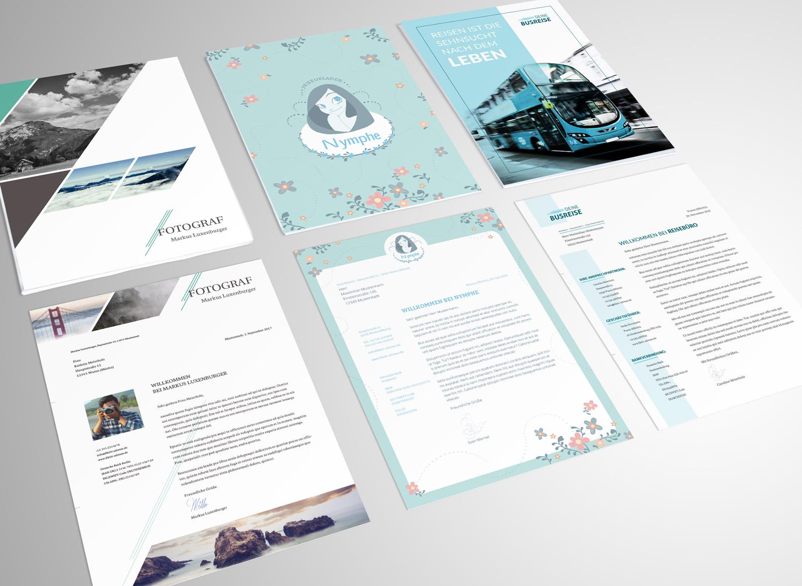 Briefpapier-Vorlagen zum Download