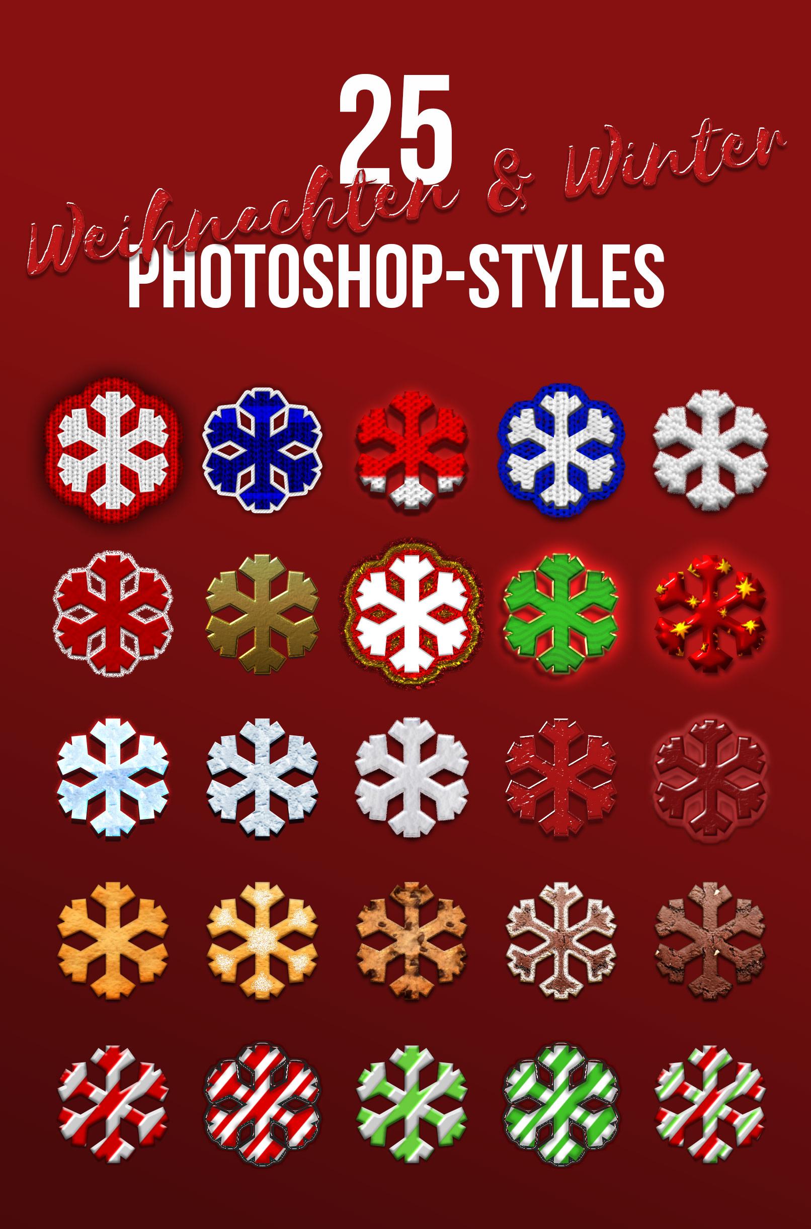 25 Photoshop-Styles für Weihnachten