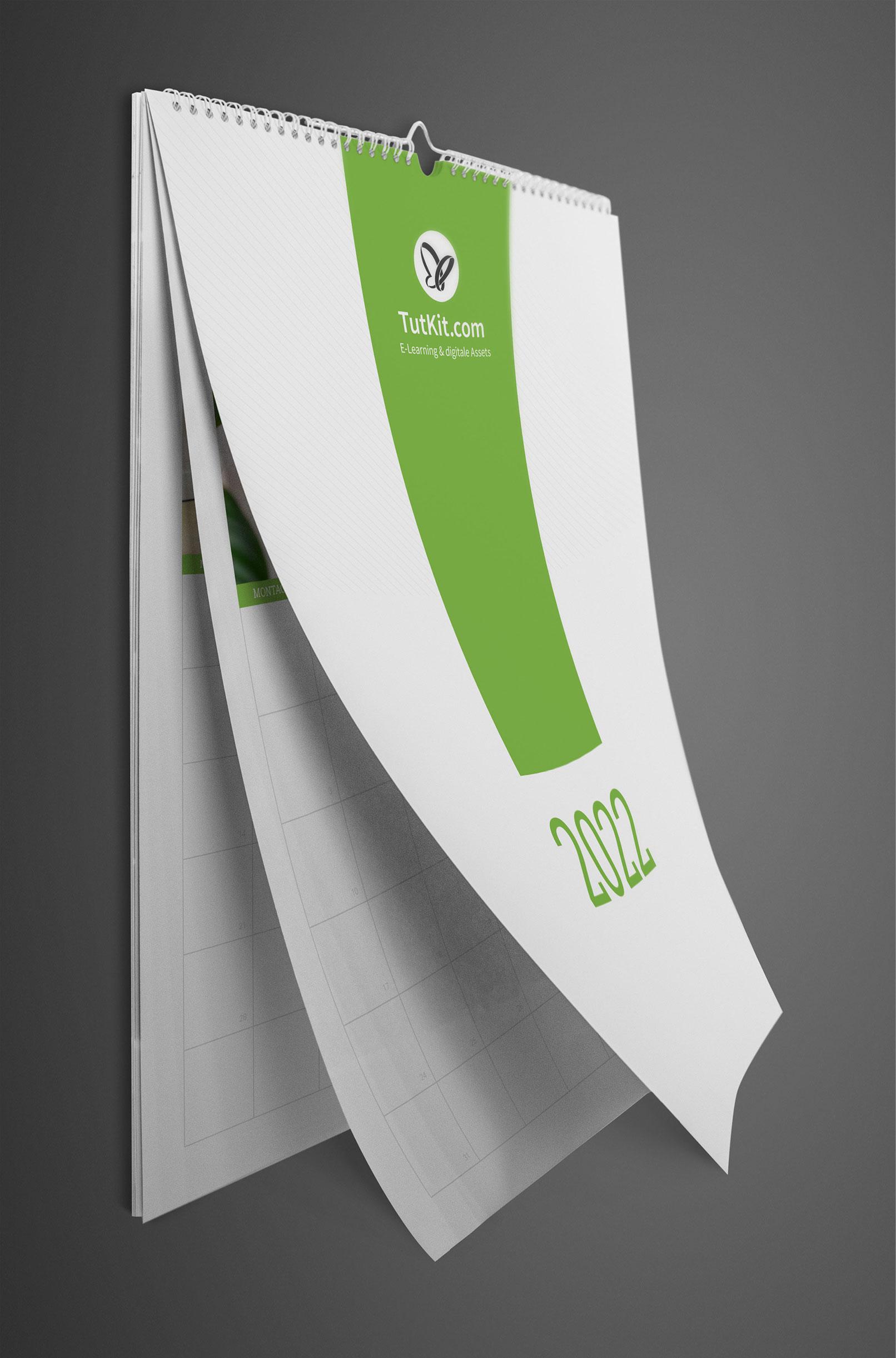 Personalisierter Business-Kalender 2022, Wandkalender im A4-Format