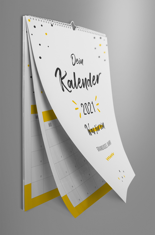 Kalender-Vorlage 2021, Wandkalender A4