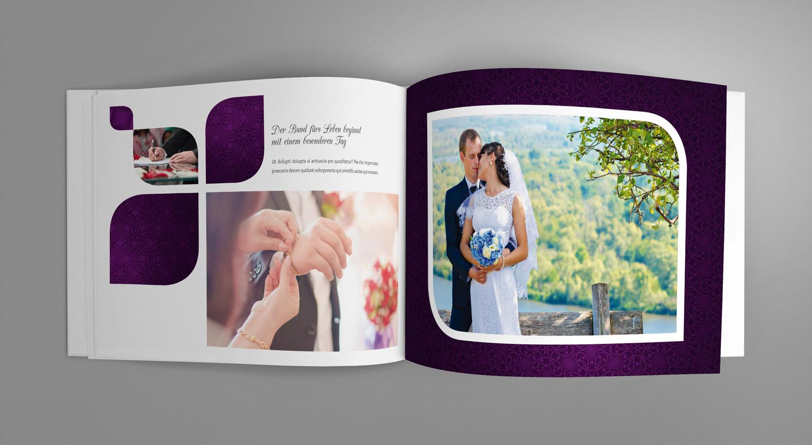 Geburtstagszeitung mit lila Hintergrund und lila Elementen