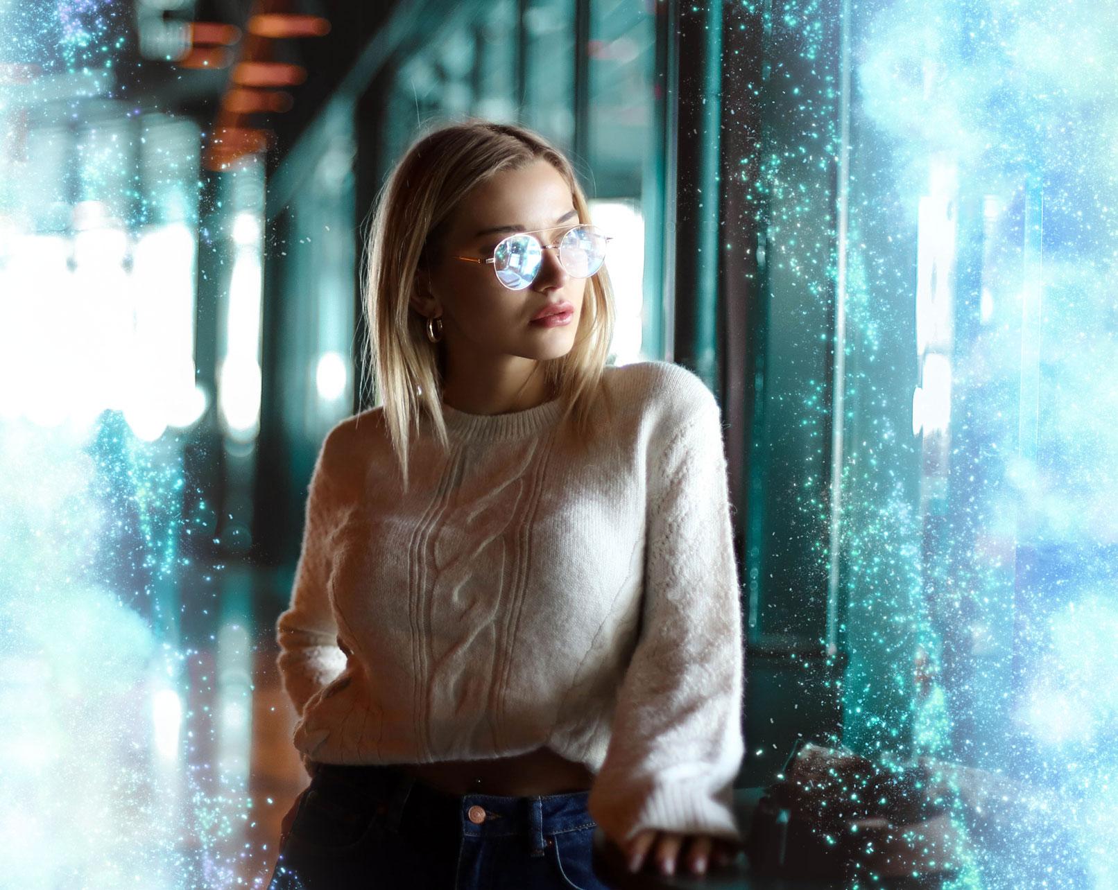 Einsatz der Light-Overlays in einem Porträt