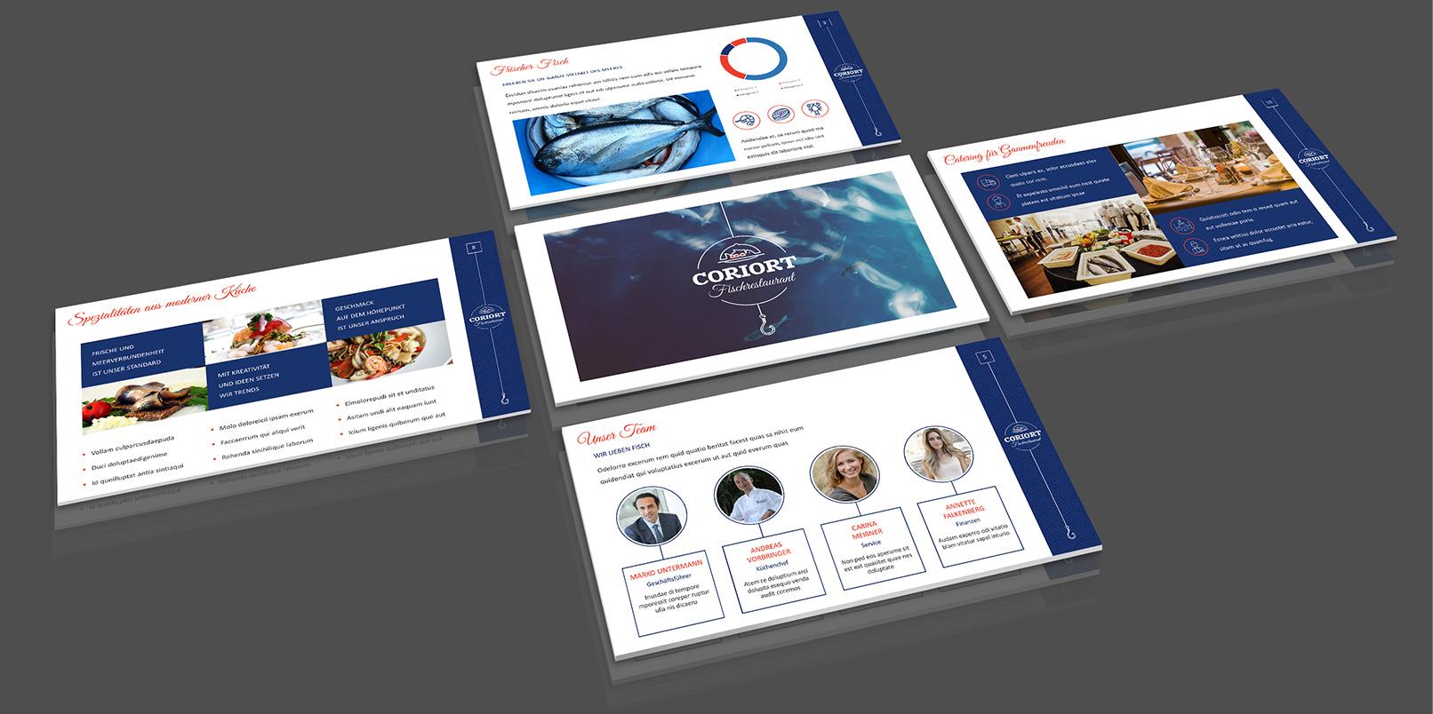Layout-Vorlagen für PowerPoint: Restaurant, Food und Gastro
