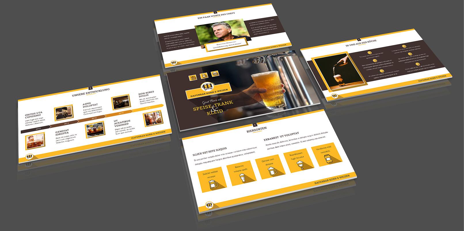 Layout-Vorlagen für PowerPoint: Bar, Club