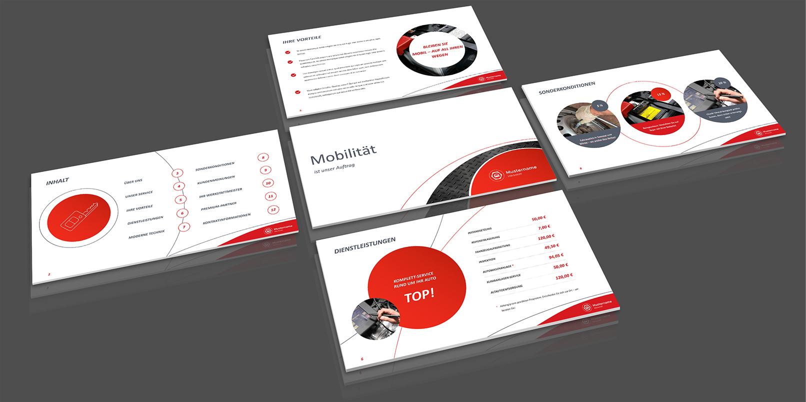 Layout-Vorlagen für PowerPoint: Technik, Werkstatt