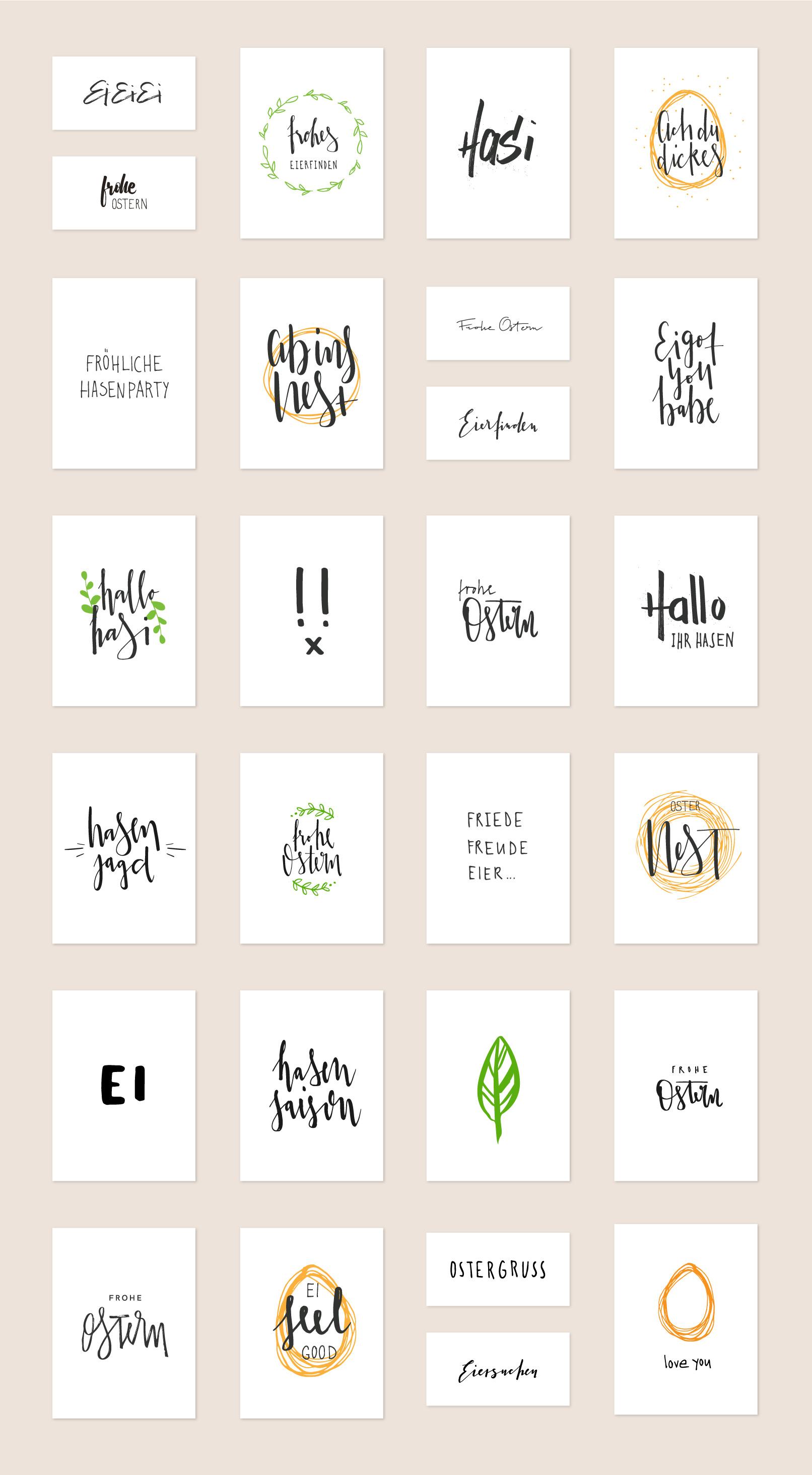 27 Handlettering-Vorlagen für Ostern