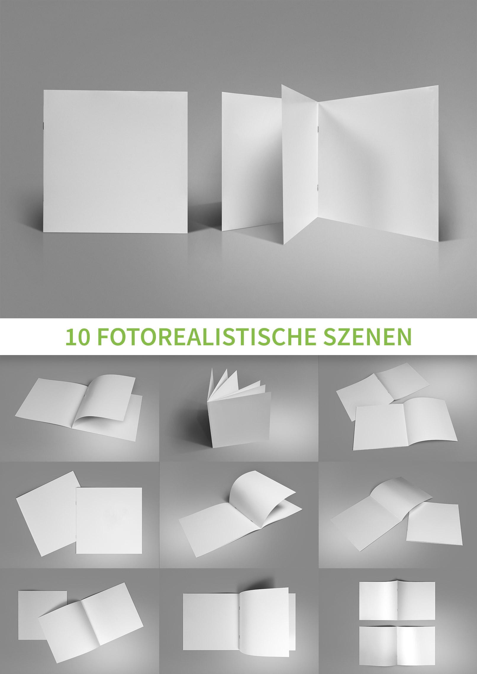 Mockups für quadratische Broschüren