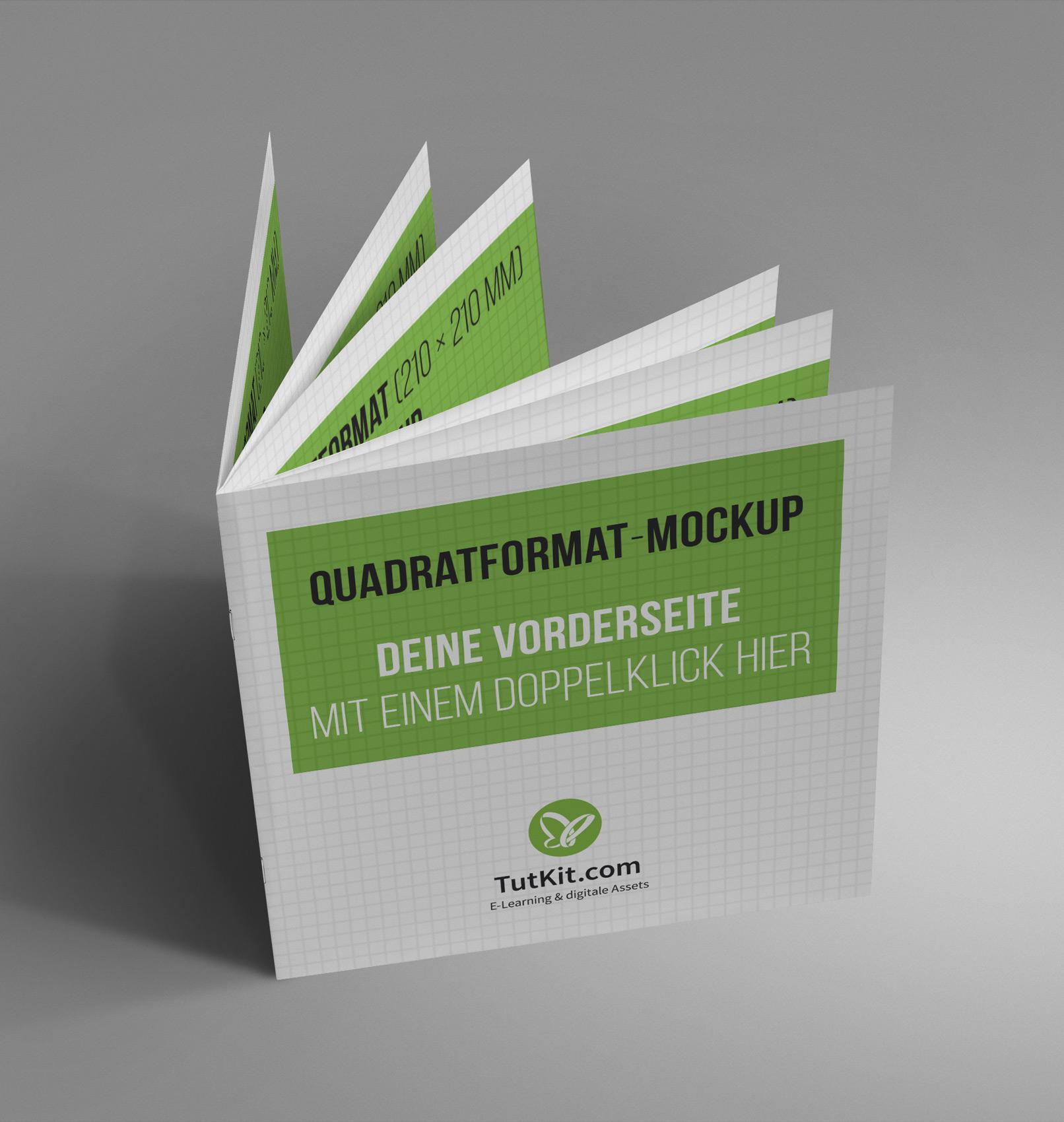 Mockup für quadratische Broschüren