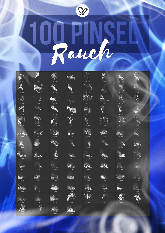 Vorschau der 100 Pinsel mit Rauch und Smoke für Photoshop und Co.
