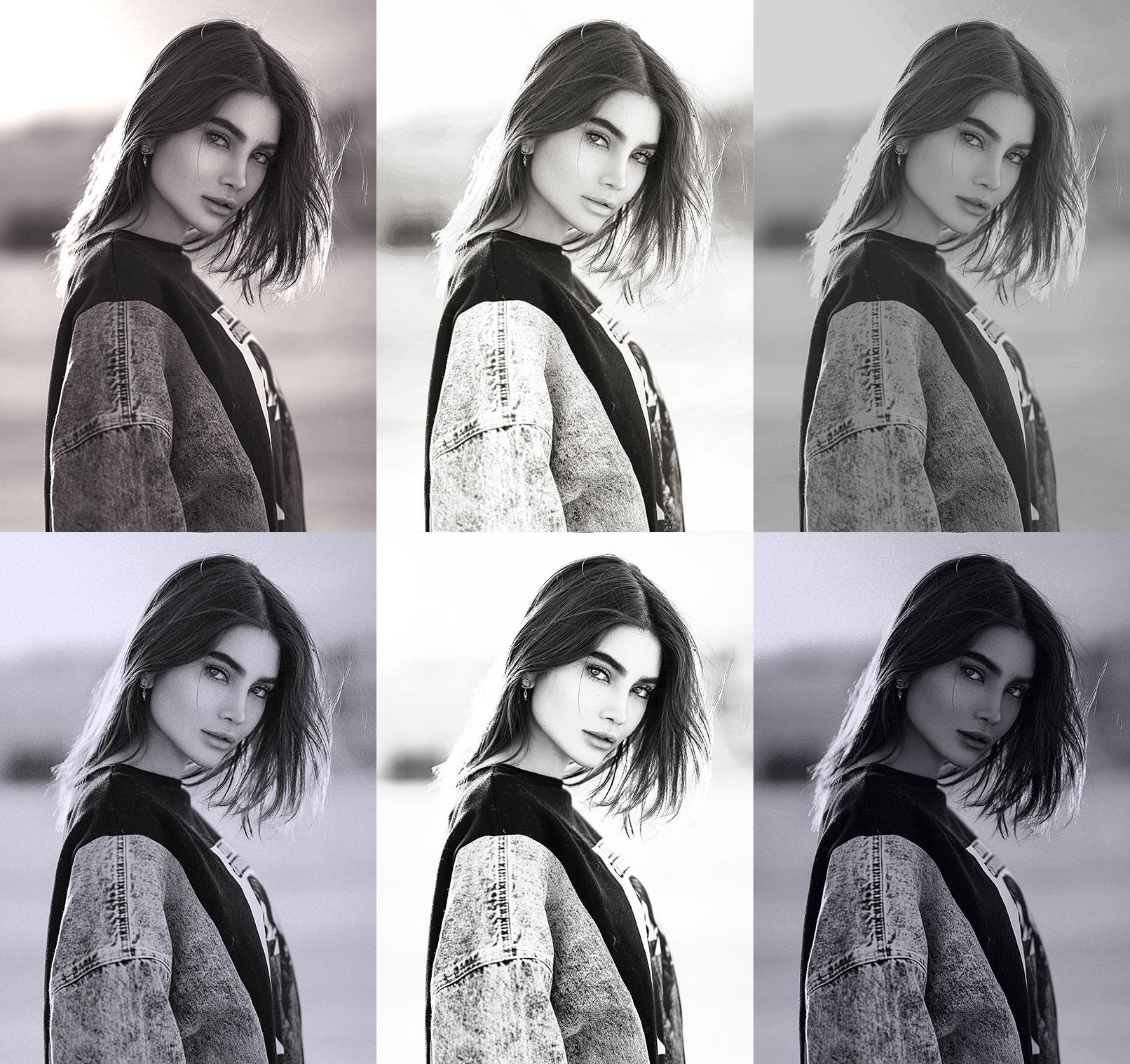 Schwarz-Weiß-Bilder, erstellt mit Affinity Photo-Makros