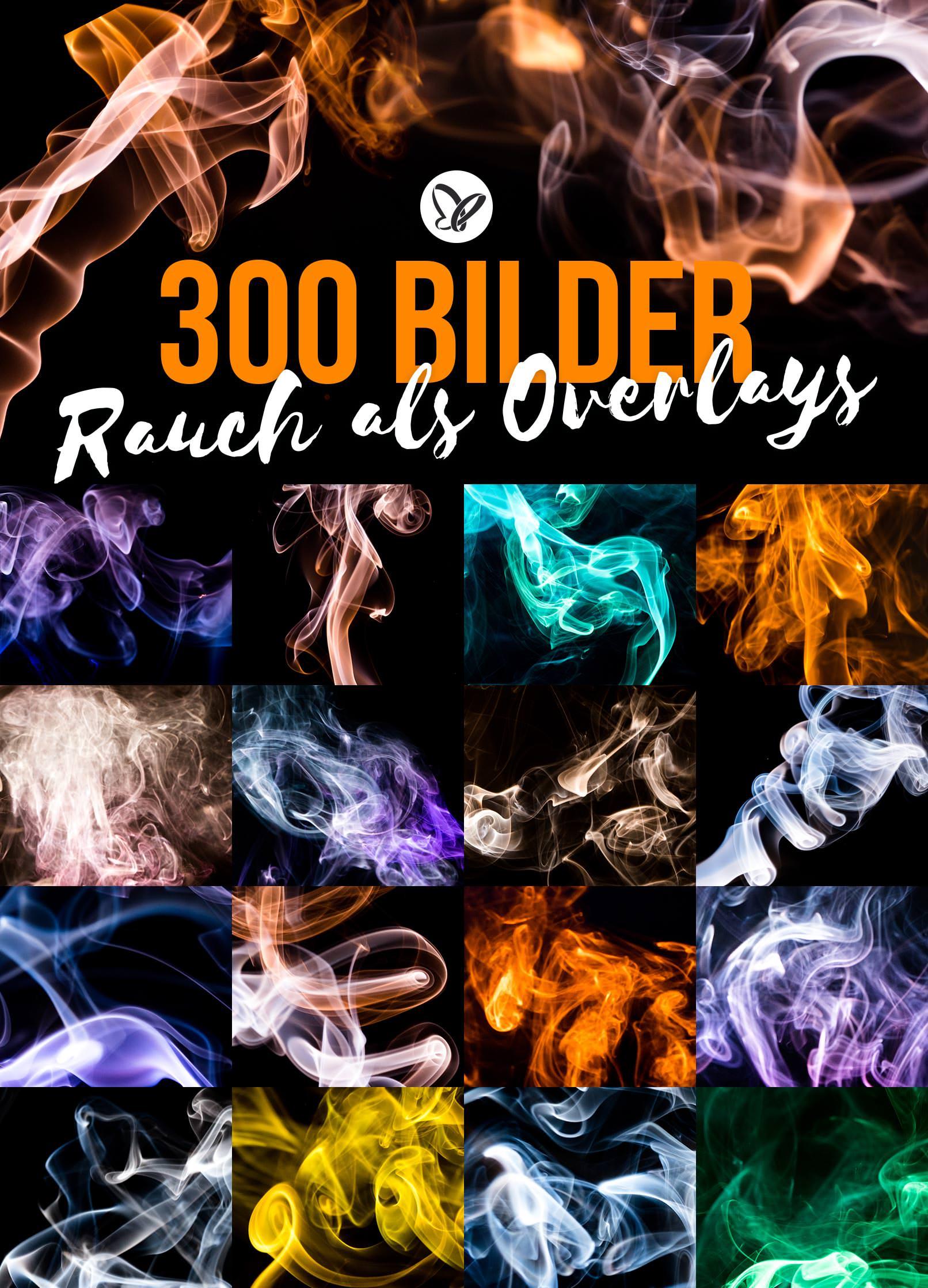 Smoke-Overlays, Rauch-Bilder in verschiedenen Farben