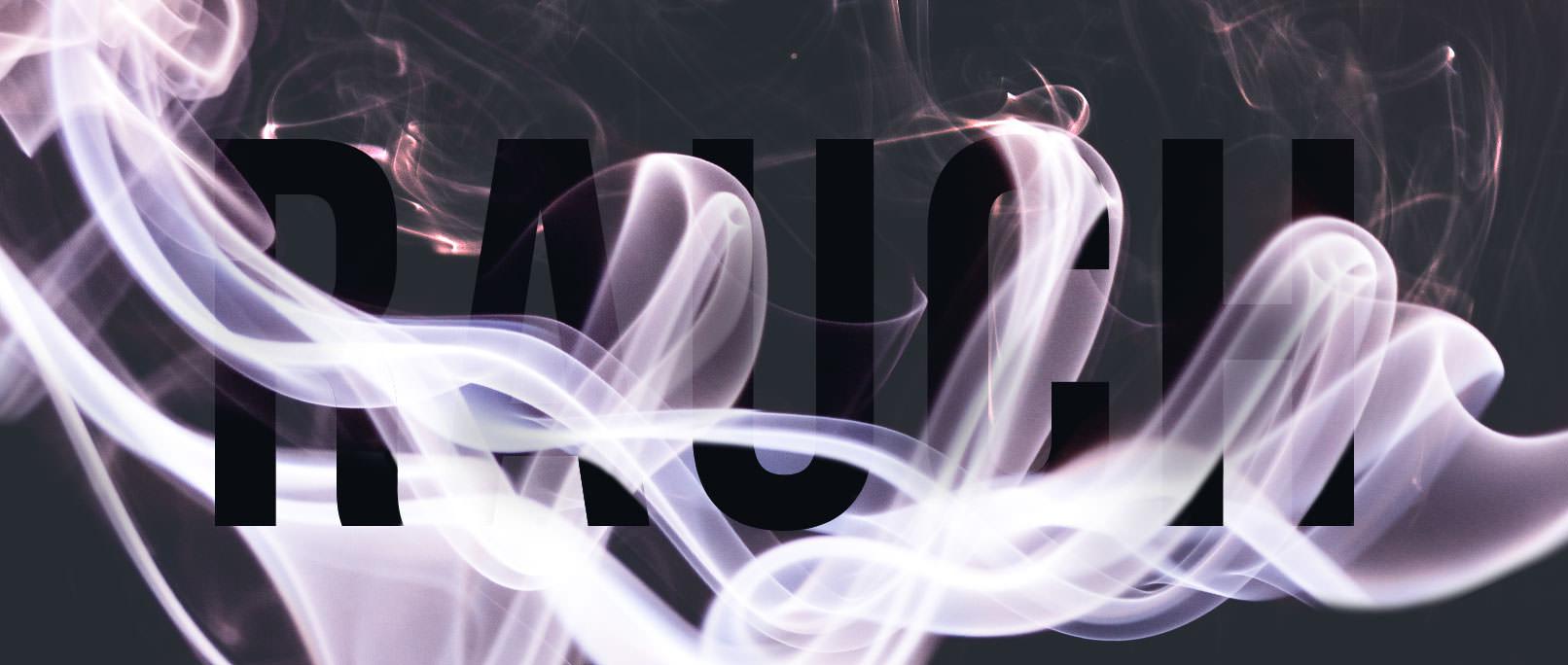 Schriftzug Rauch mit eingearbeitetem Smoke-Overlay