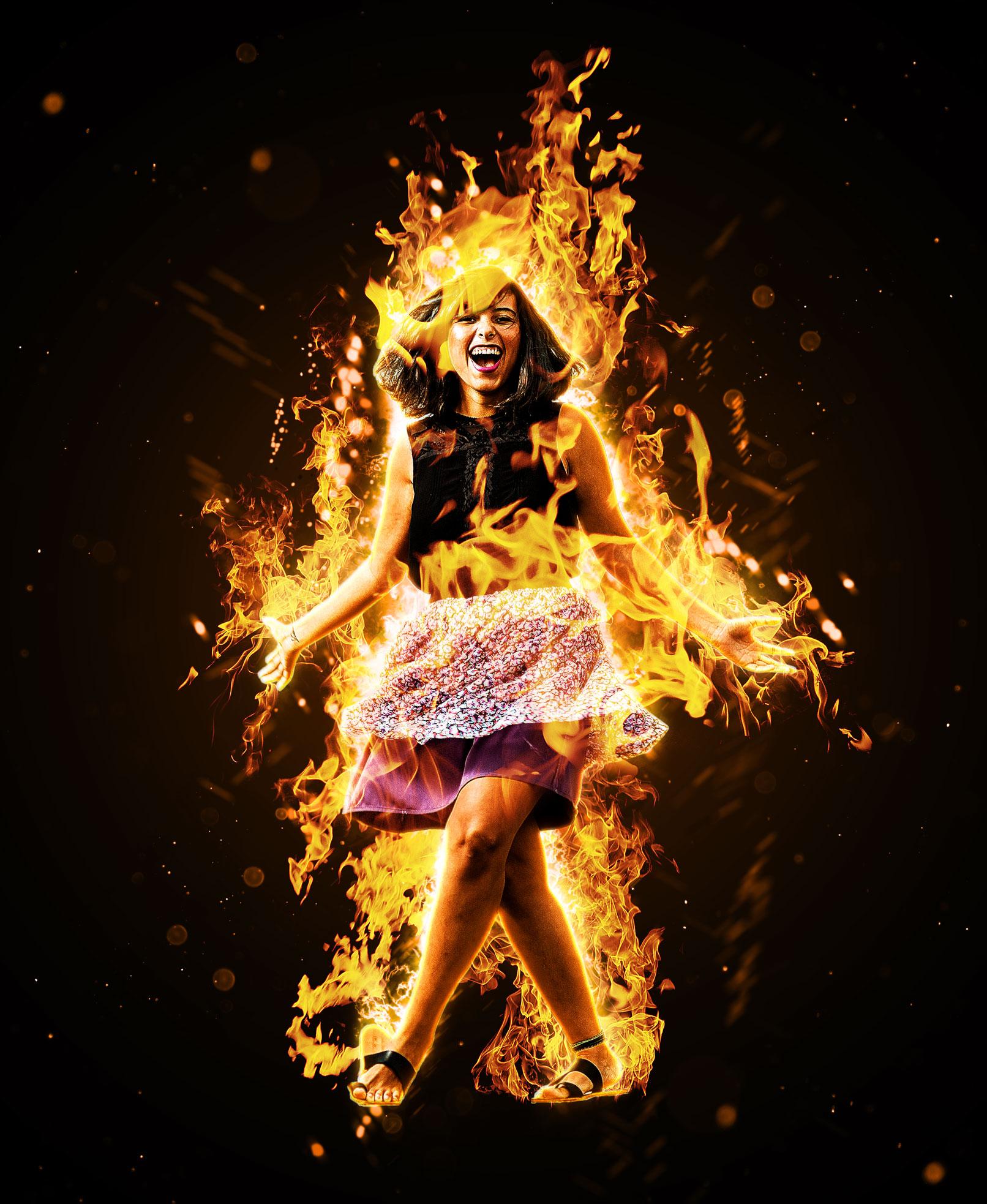 """Photoshop-Aktion """"Loderndes Feuer"""": Erzeuge ein glühendes Flammenmeer"""