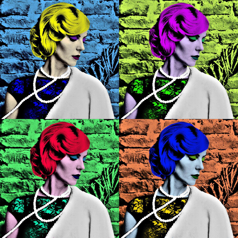 Porträt im Pop Art-Look