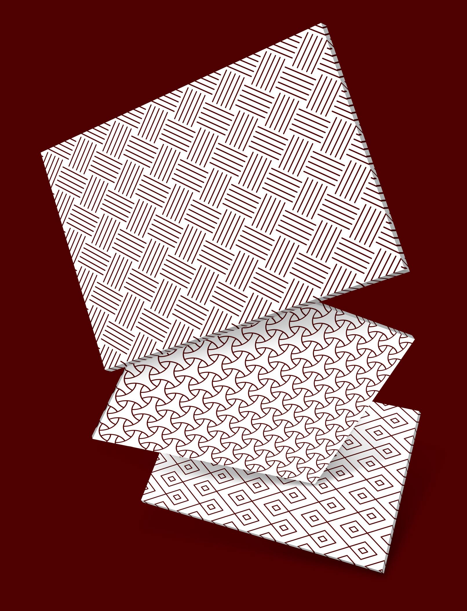 Hintergründe, die mit den vektorbasierten Mustern erstellt wurden