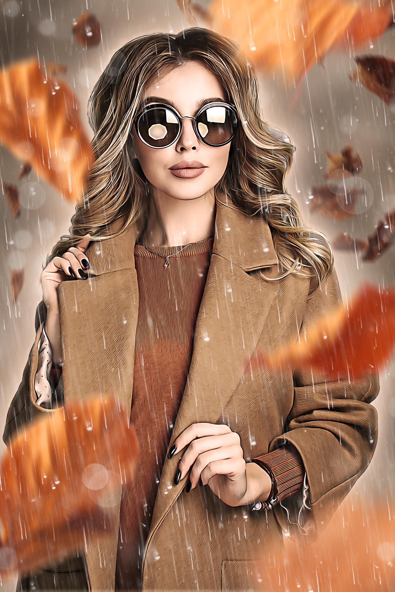 """Nachher-Bild von Photoshop-Aktion """"October Rain"""": ein ölmalerischer Herbst-Look für deine Fotos"""