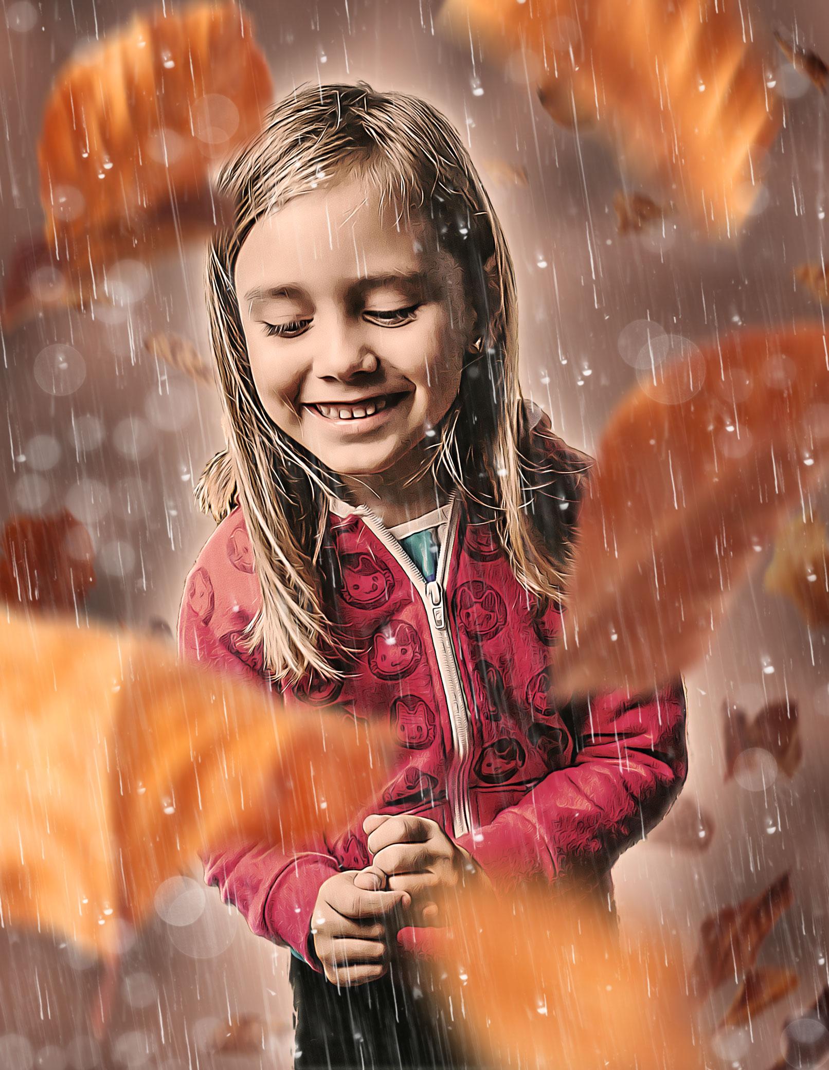 """Photoshop-Aktion """"October Rain"""": ein ölmalerischer Herbst-Look für deine Fotos"""