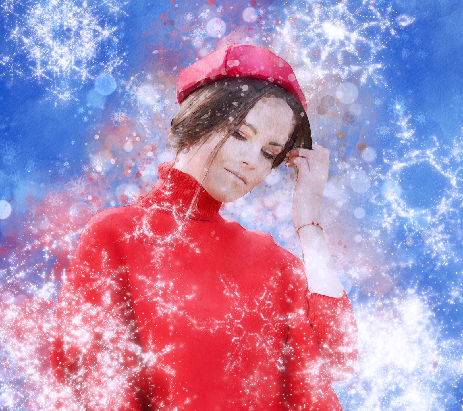 """Photoshop-Aktion """"Weihnachten – Winteraquarell"""": ein Kristallfunkeln für deine Fotos"""