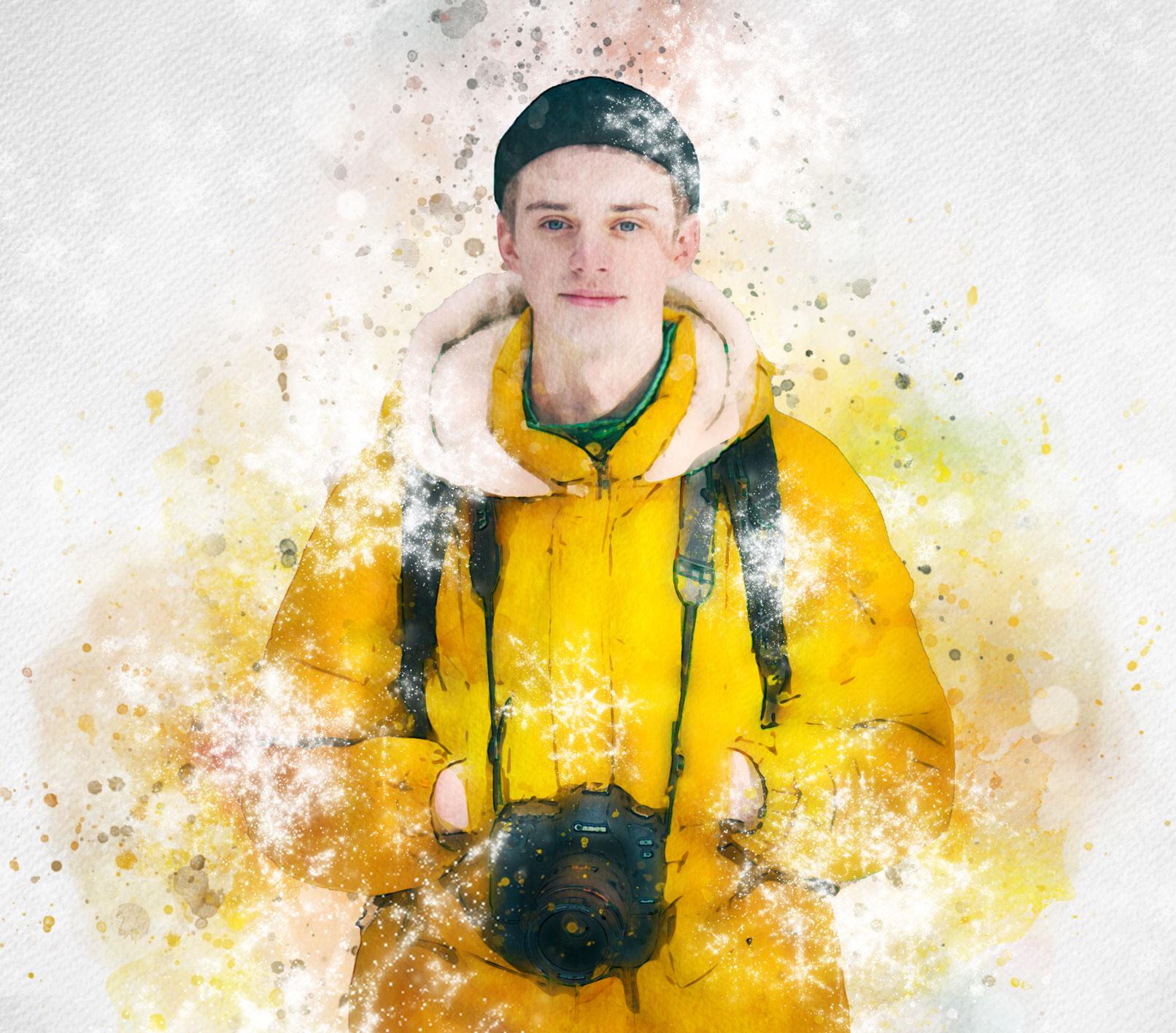 """Nachher-Bild von Photoshop-Aktion """"Weihnachten – Winteraquarell"""": ein Kristallfunkeln für deine Fotos"""