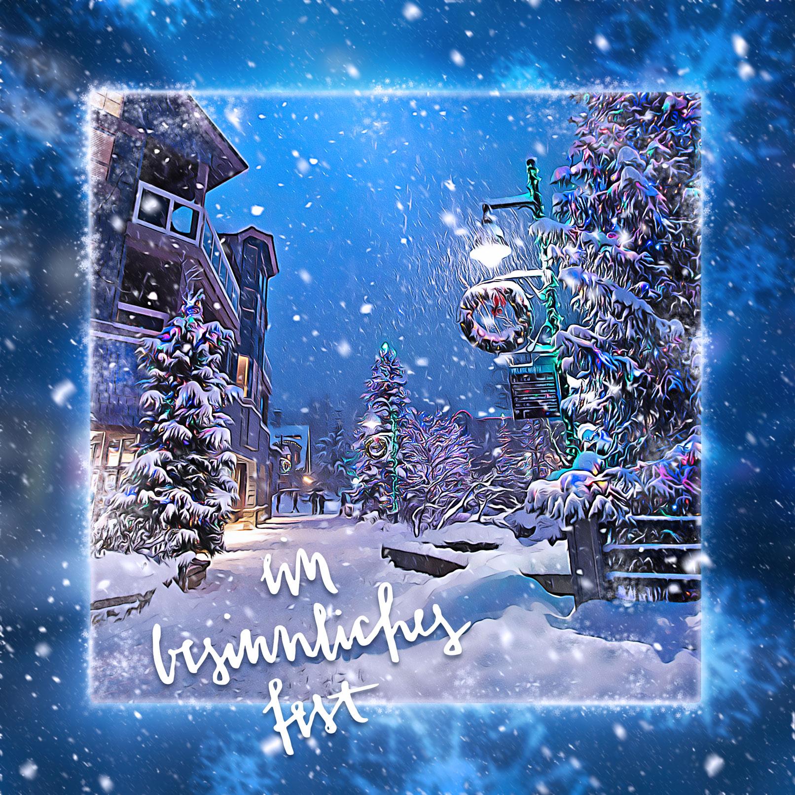 Winterlandschaft, , bearbeitet mit der Photoshop-Aktion Schneezauber vor Ölfarbigkeit