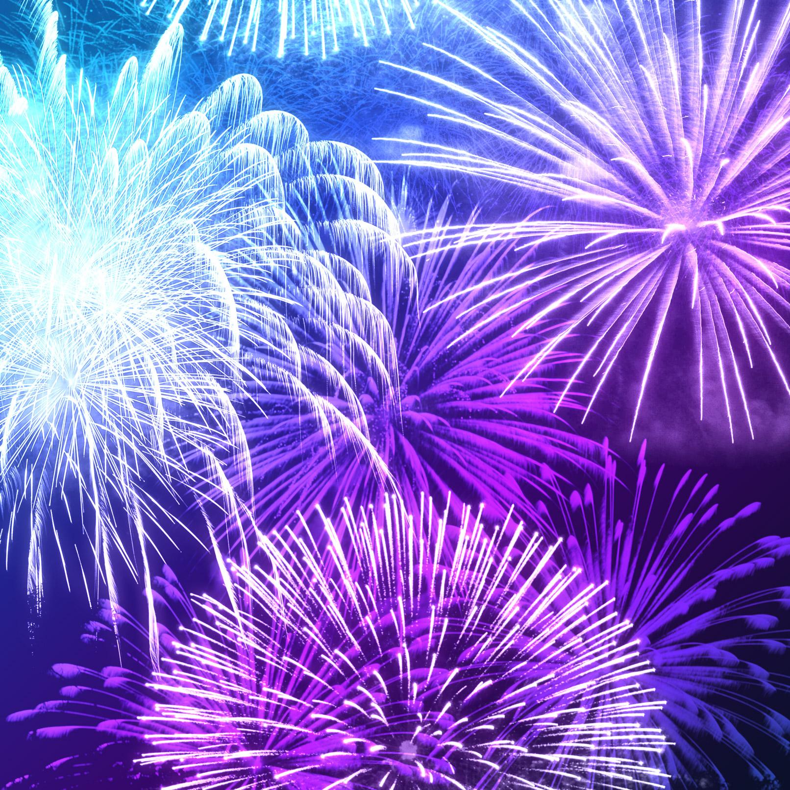 Feuerwerk, Bilder durch Anwendung der Feuerwerkspinsel aufbereitet