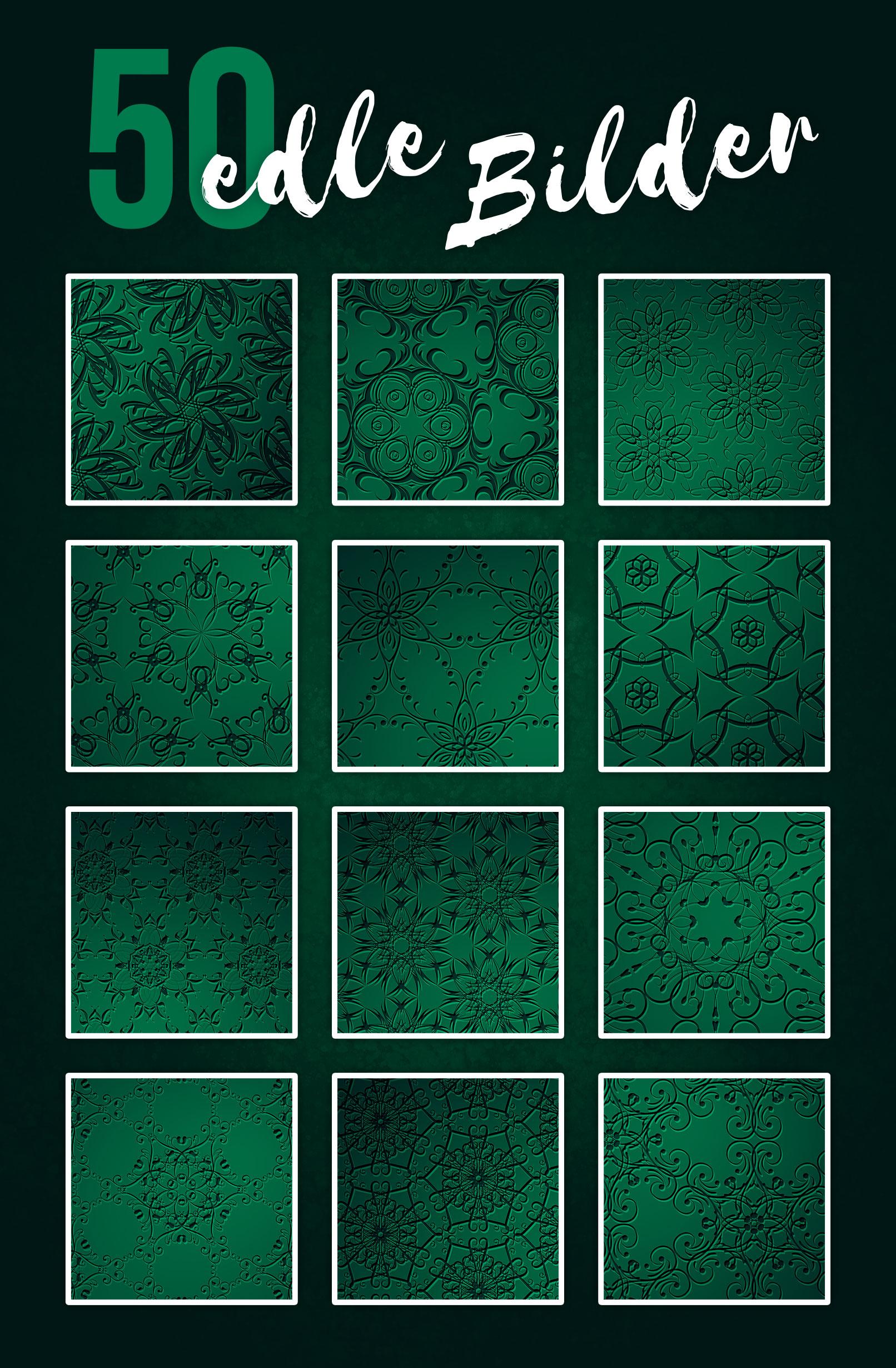 Grüne Hintergrundbilder mit Ornamenten