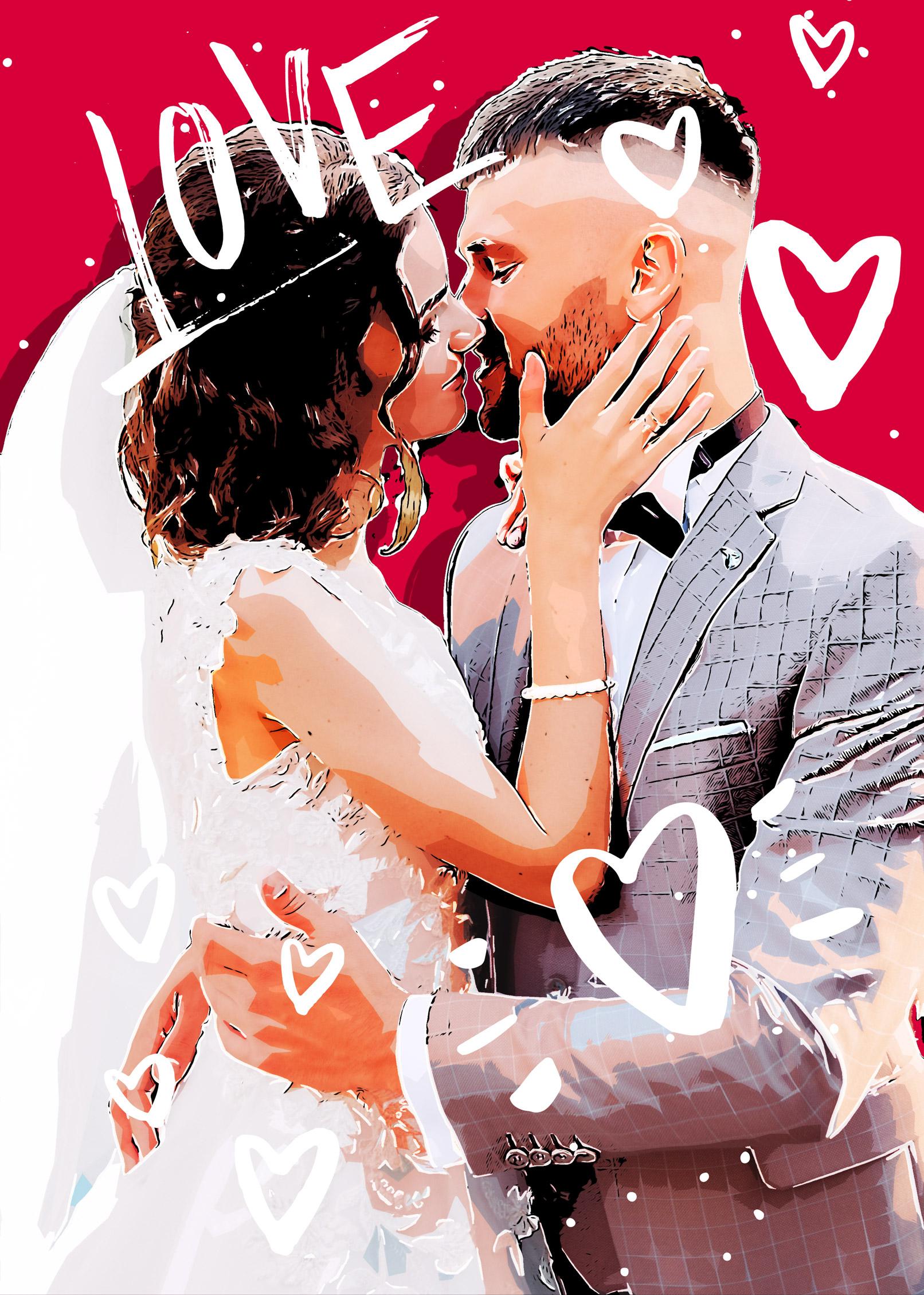 """Photoshop-Aktion """"Lovestory"""": perfekt für Hochzeiten und zum Valentinstag"""