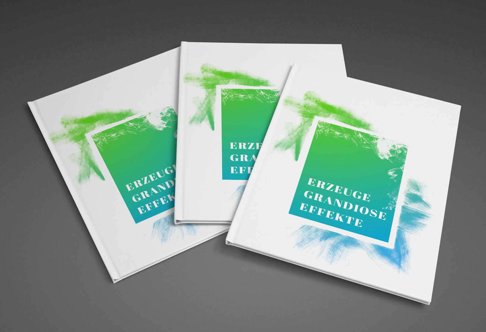 Titelblatt einer Broschüre, das mit Grunge-Effekten versehen wurde.