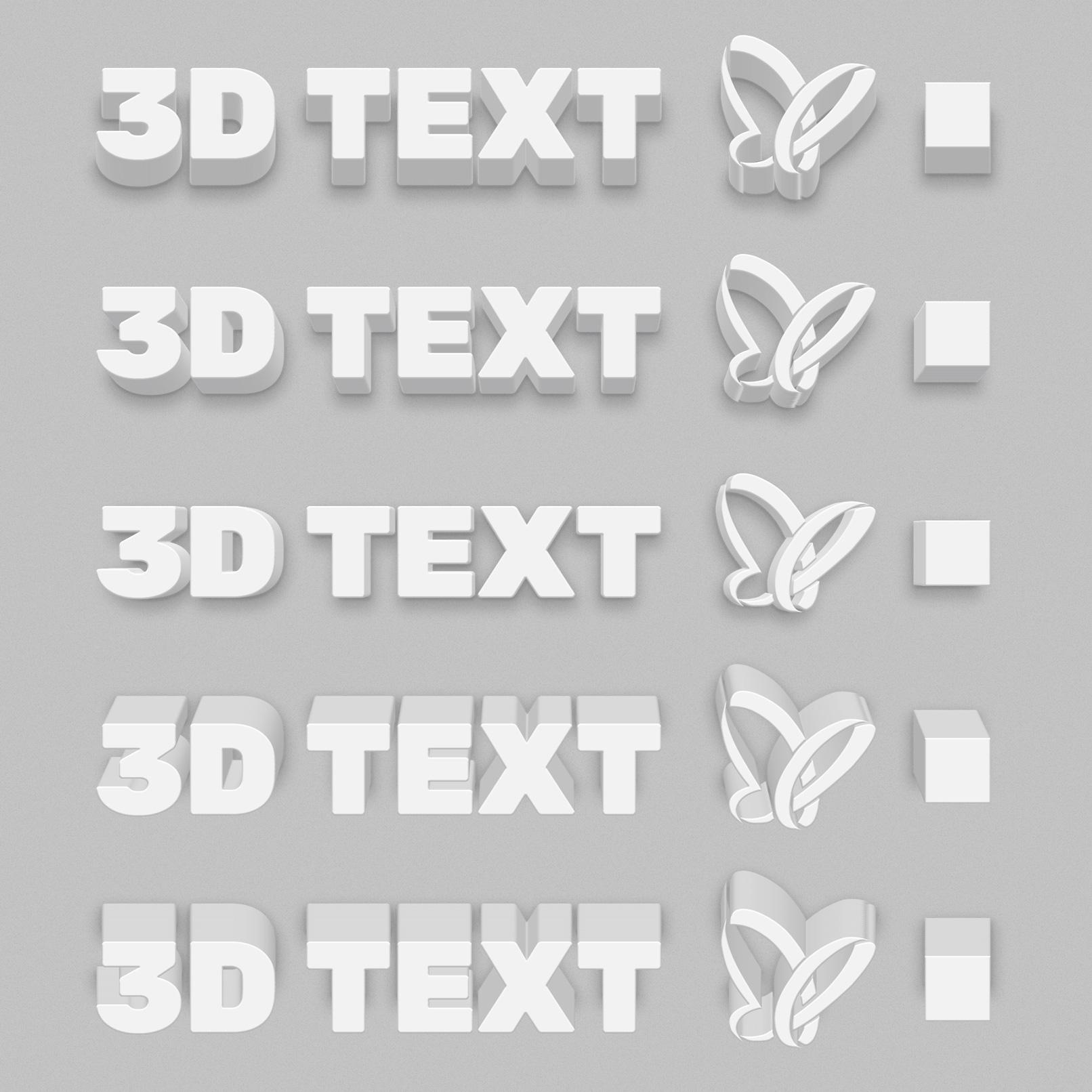 3D-Effekte in Photoshop: Schriftzüge in 3D-Blöcken