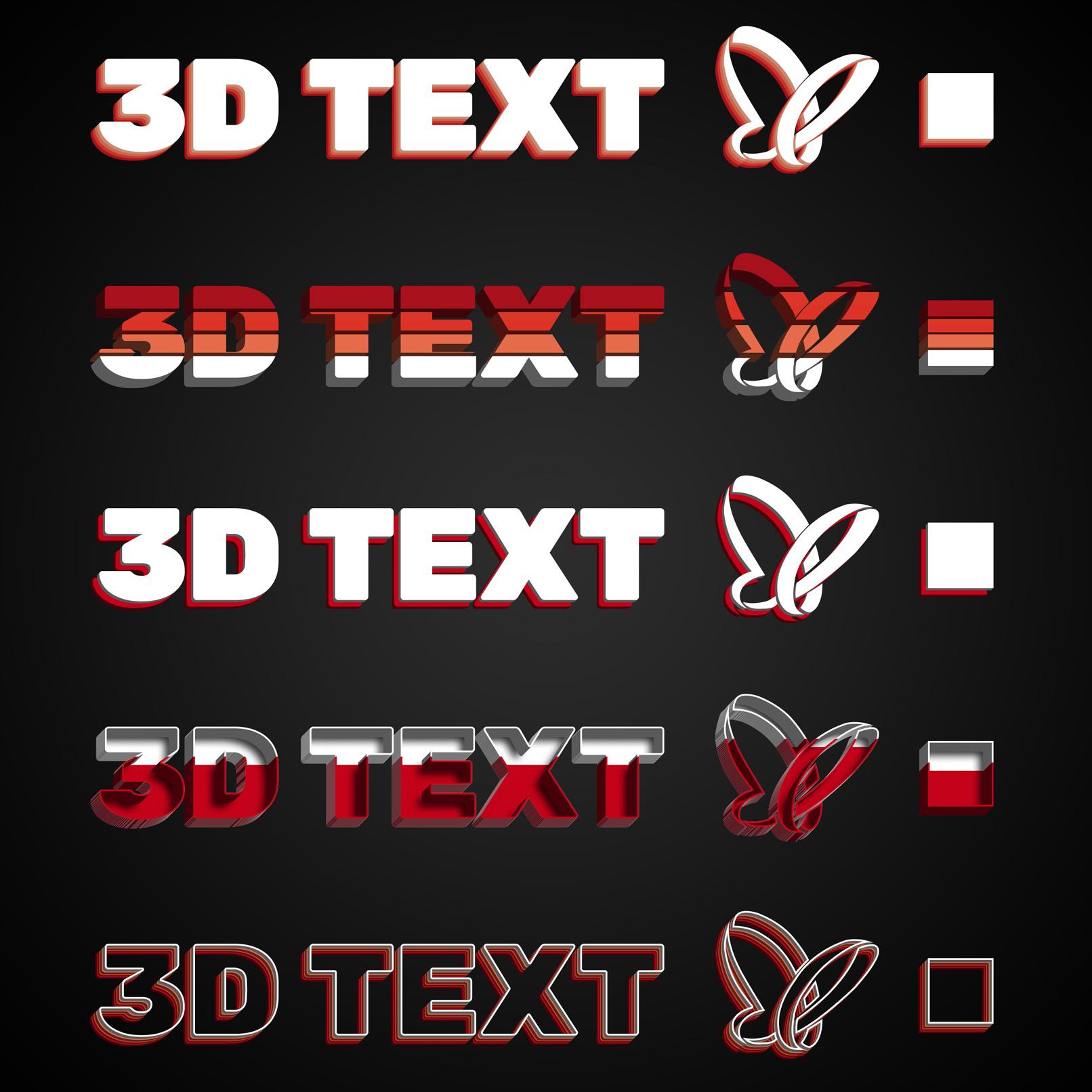 Photoshop-3D-Effekte für Texte und Grafiken in Farbe