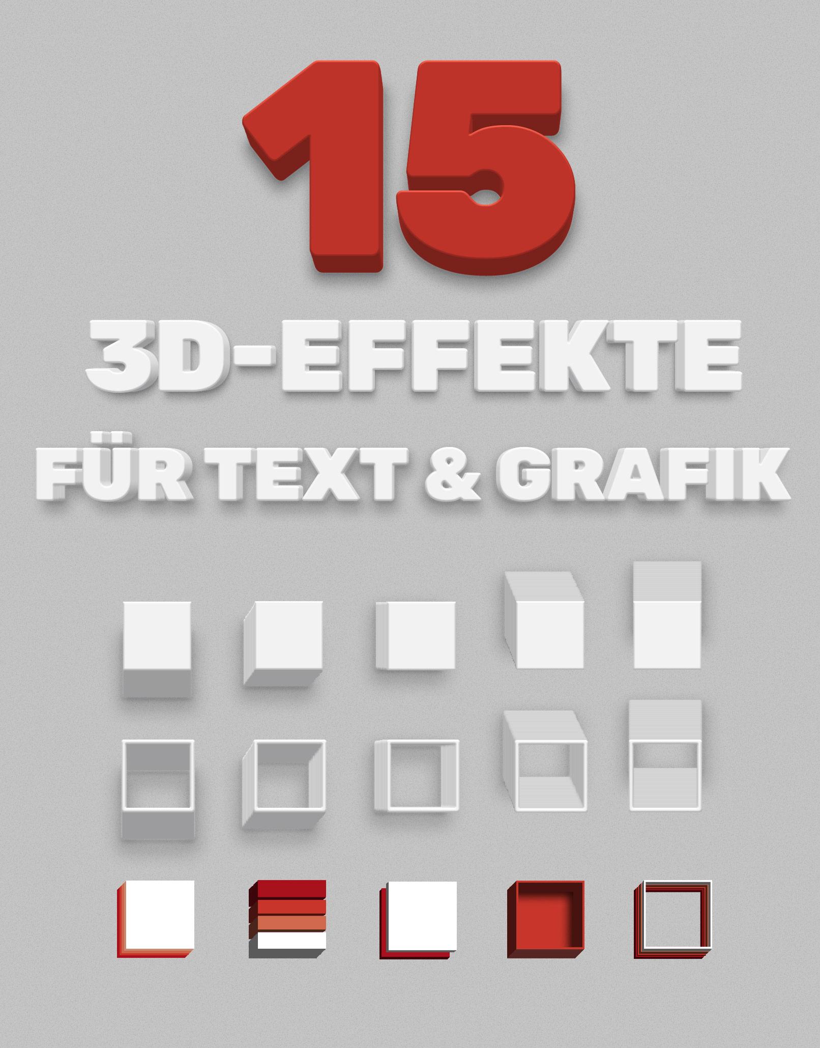 15 3D-Effekte für Grafiken und Texte in Photoshop, die auf Basis von Smartobjekten erstellt werden