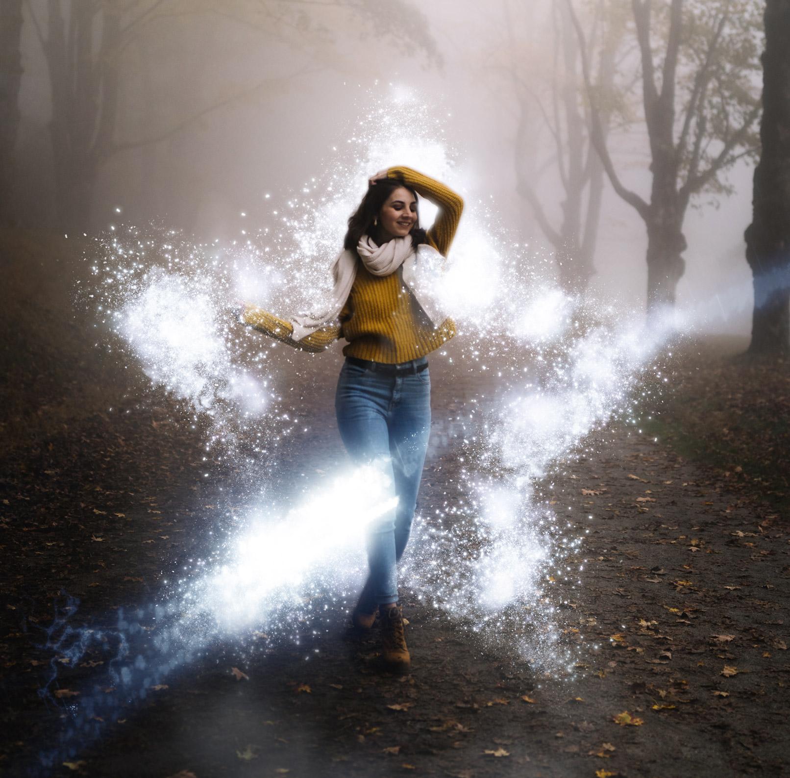 60 magisch glühende Bildeffekte: Blitze, Funken, Rauch und Glitzer