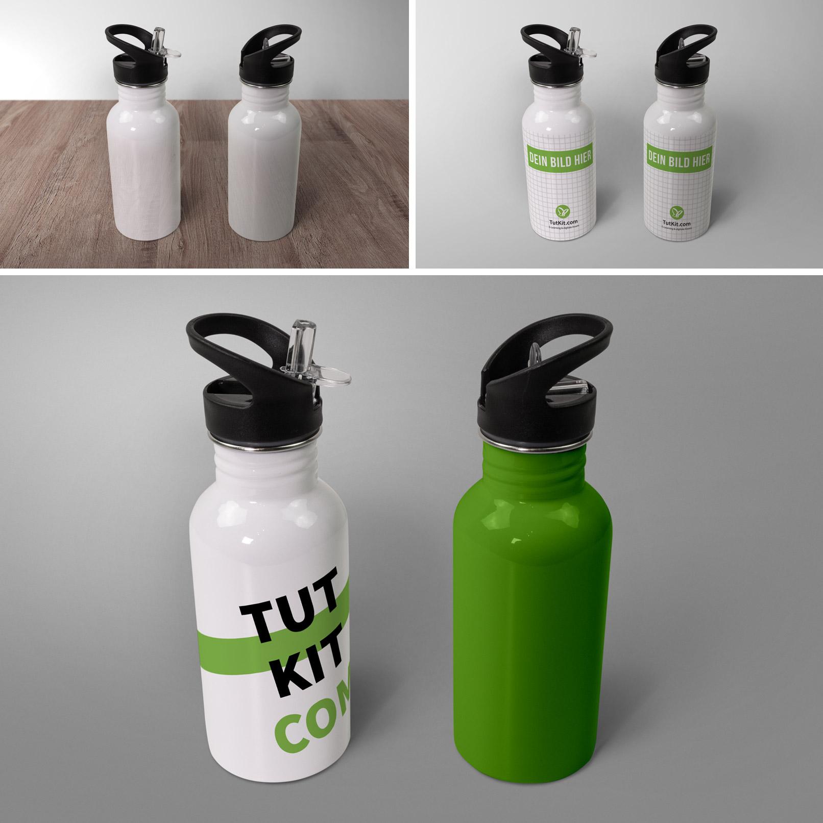 Mockup für Sport-Thermosflasche, Isolierflasche
