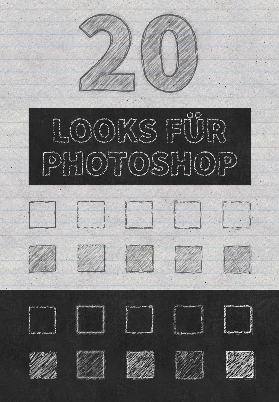 20 Kreideschrift- und Bleistift-Effekte für Photoshop