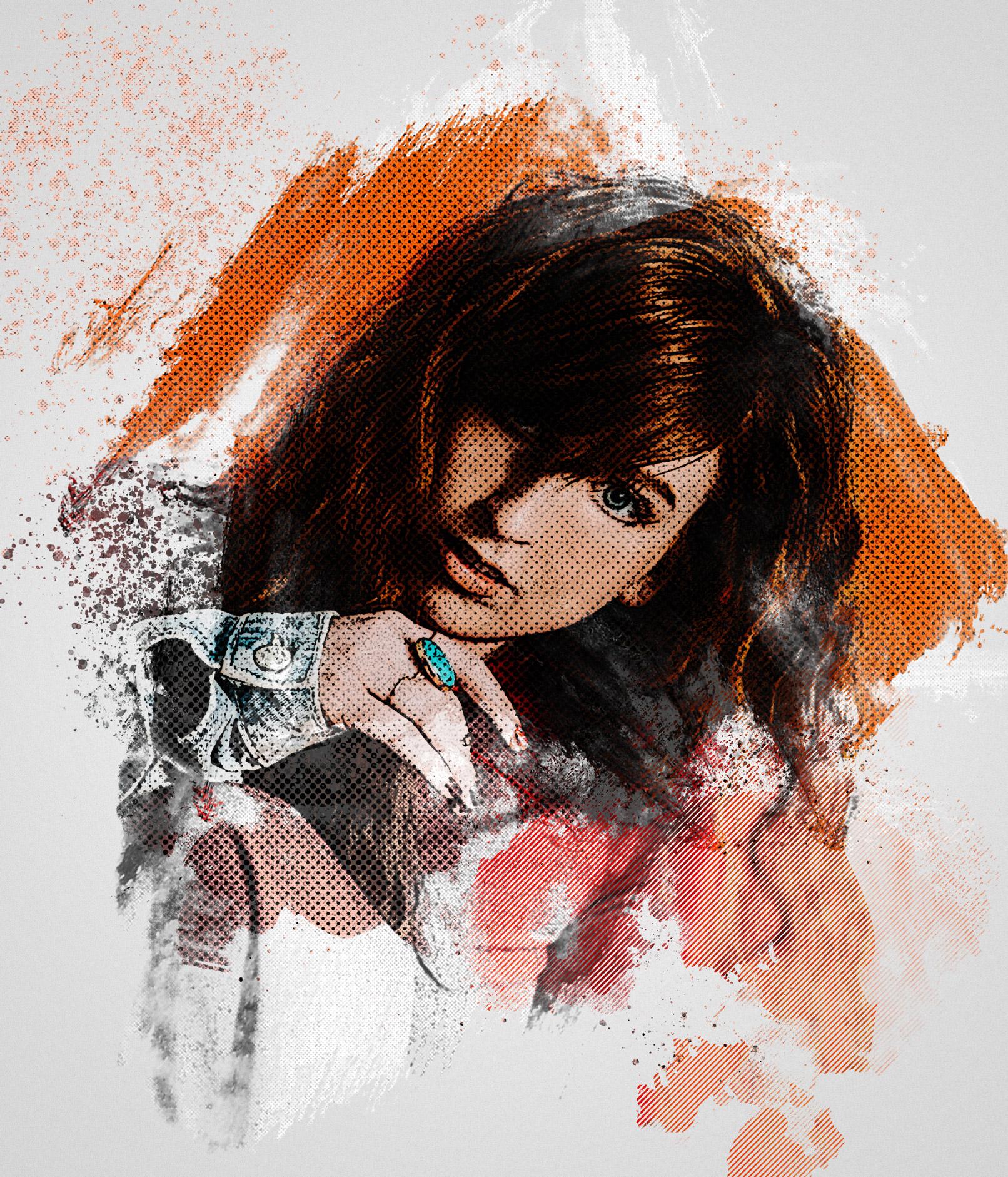 """Photoshop-Aktion """"Vibrant Halftone Art"""": Klicke Rastereffekte und Farbkleckse in deine Fotos"""