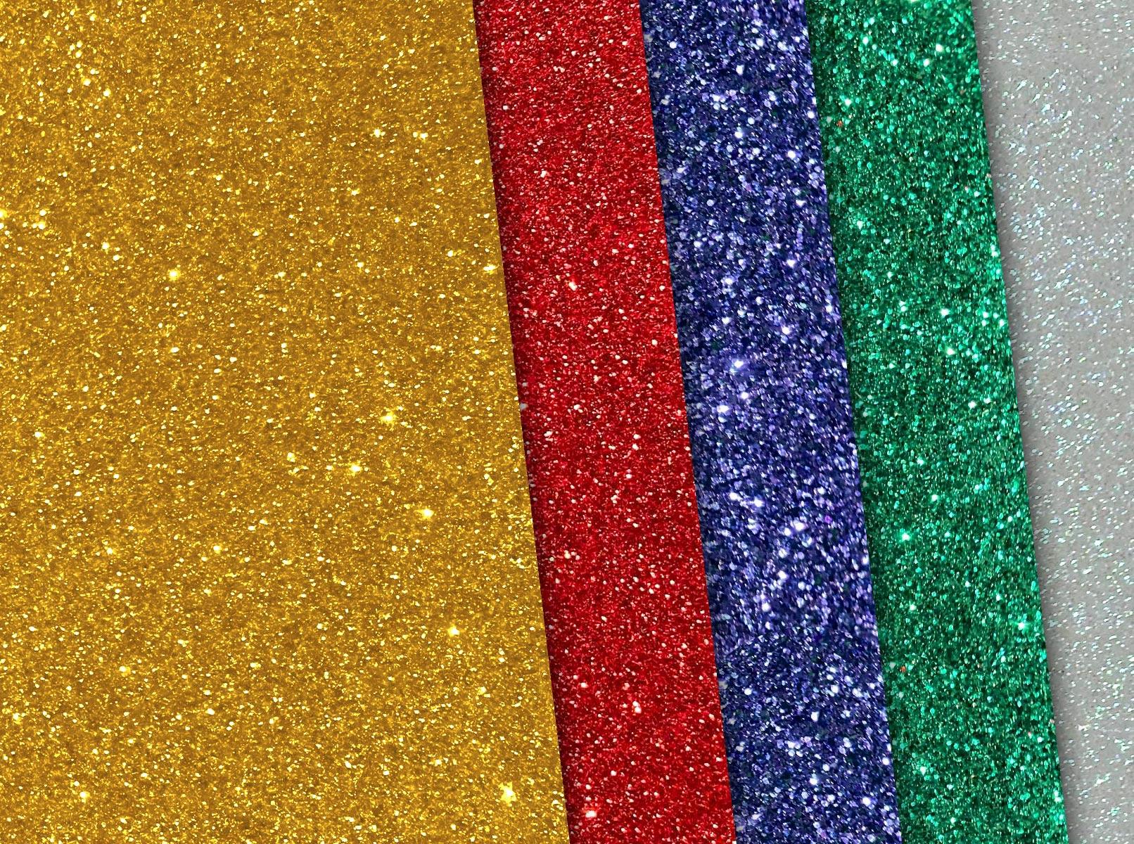 Glitzer-Hintergründe mit verschiedenen Farben und Formen