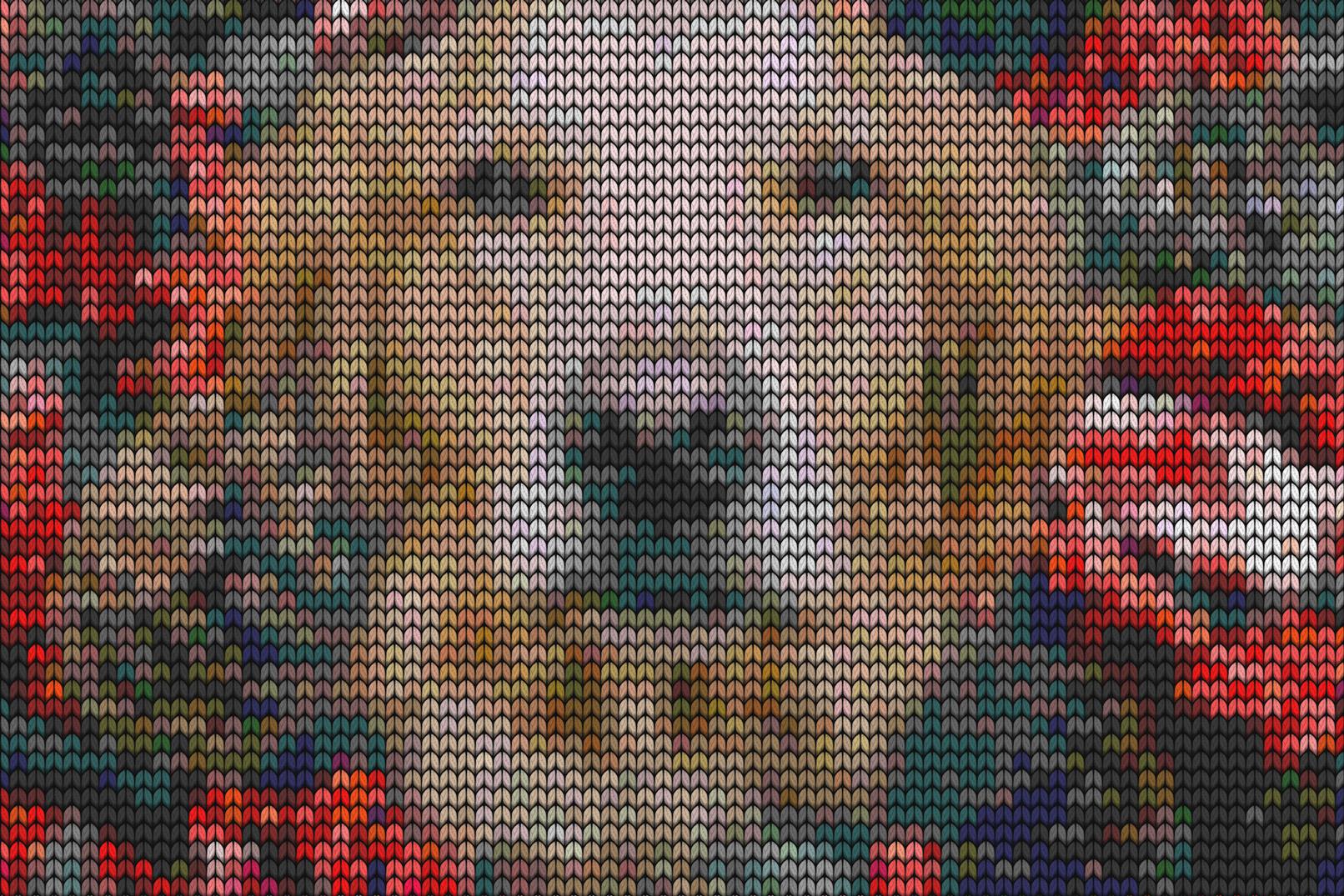 Strickmuster-Texturen für Bilder und Texte als Photoshop-Smartobjekte
