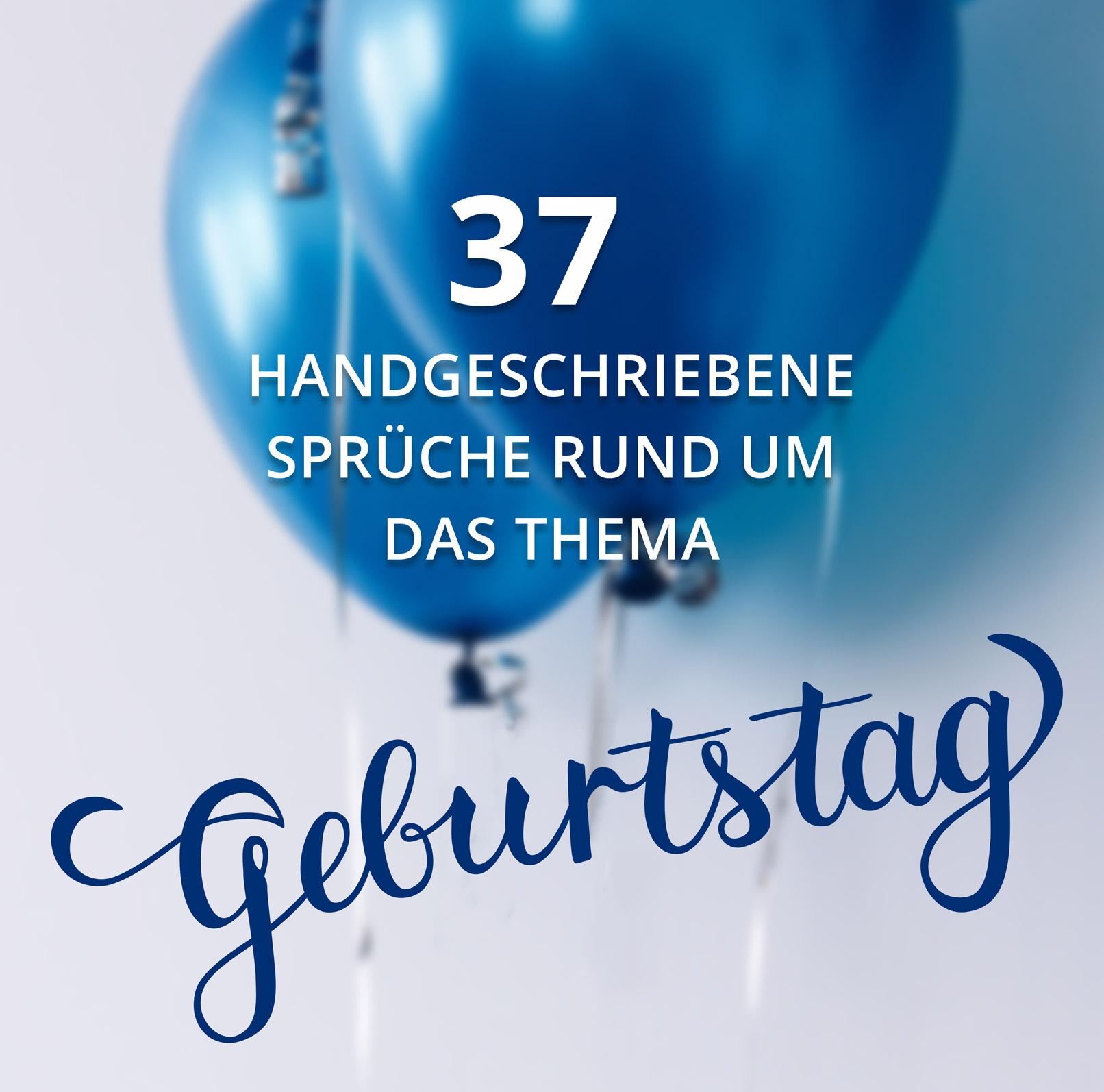 Luftballons mit Handlettering Geburtstag im Vordergrund