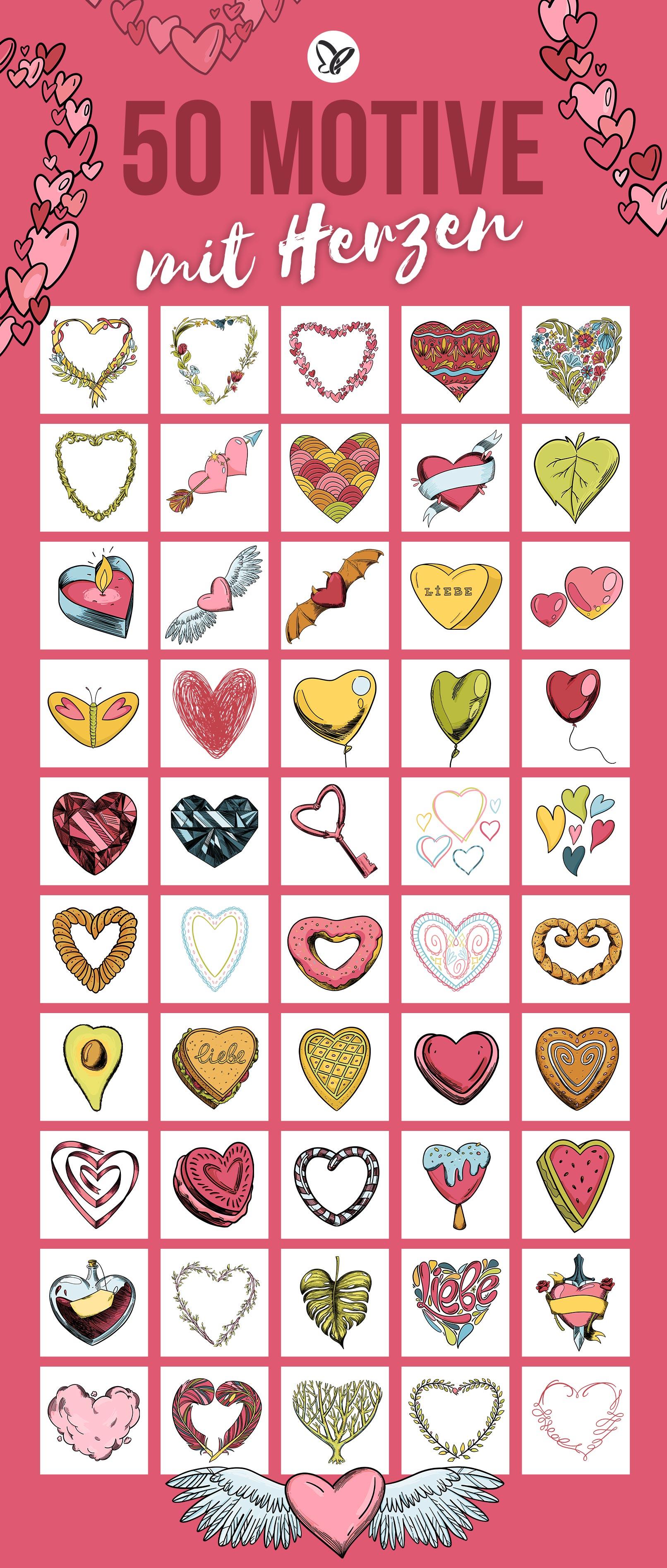 50 Herz-Grafiken